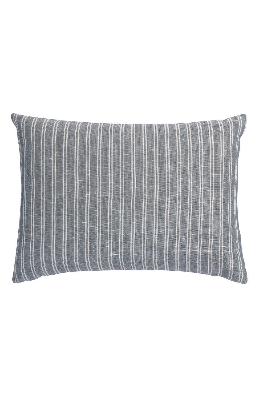 Park Ave Stripe Organic Cotton Accent Pillow,                         Main,                         color, Grey