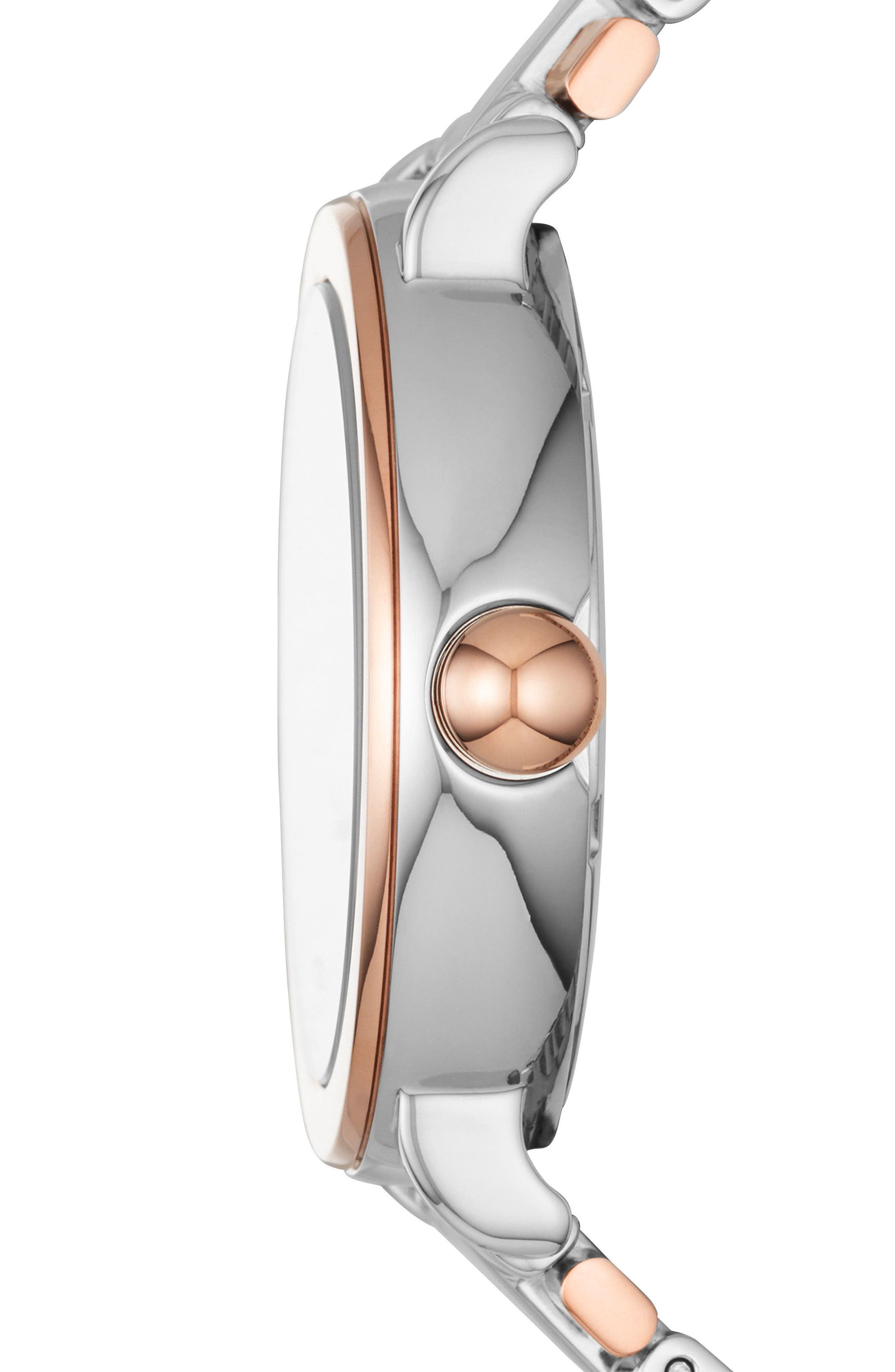 Riley Bracelet Watch, 36mm,                             Alternate thumbnail 2, color,                             Silver/ Rose Gold