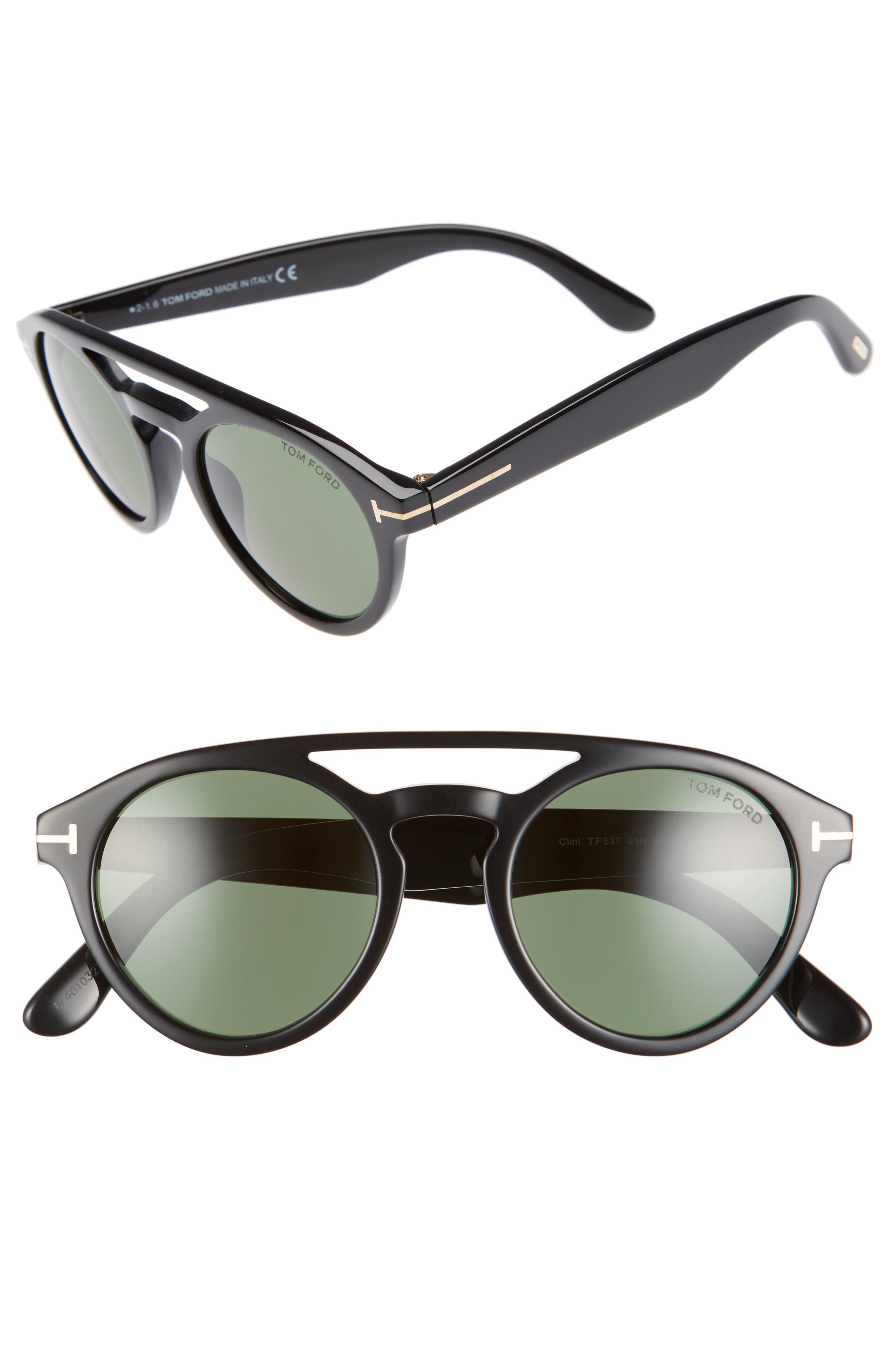 Alternate Image 1 Selected - Tom Ford Clint 50mm Aviator Sunglasses