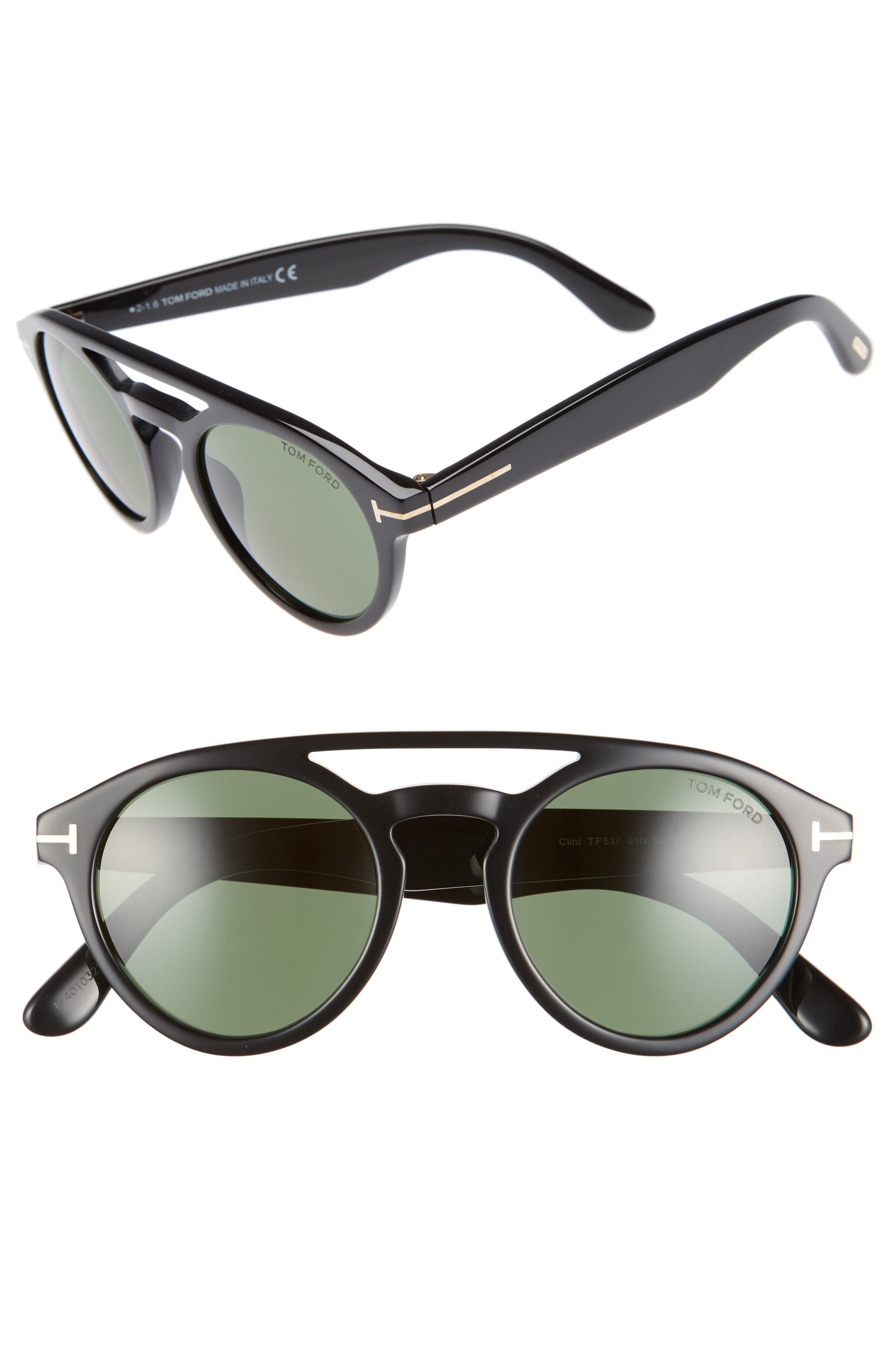 Main Image - Tom Ford Clint 50mm Aviator Sunglasses