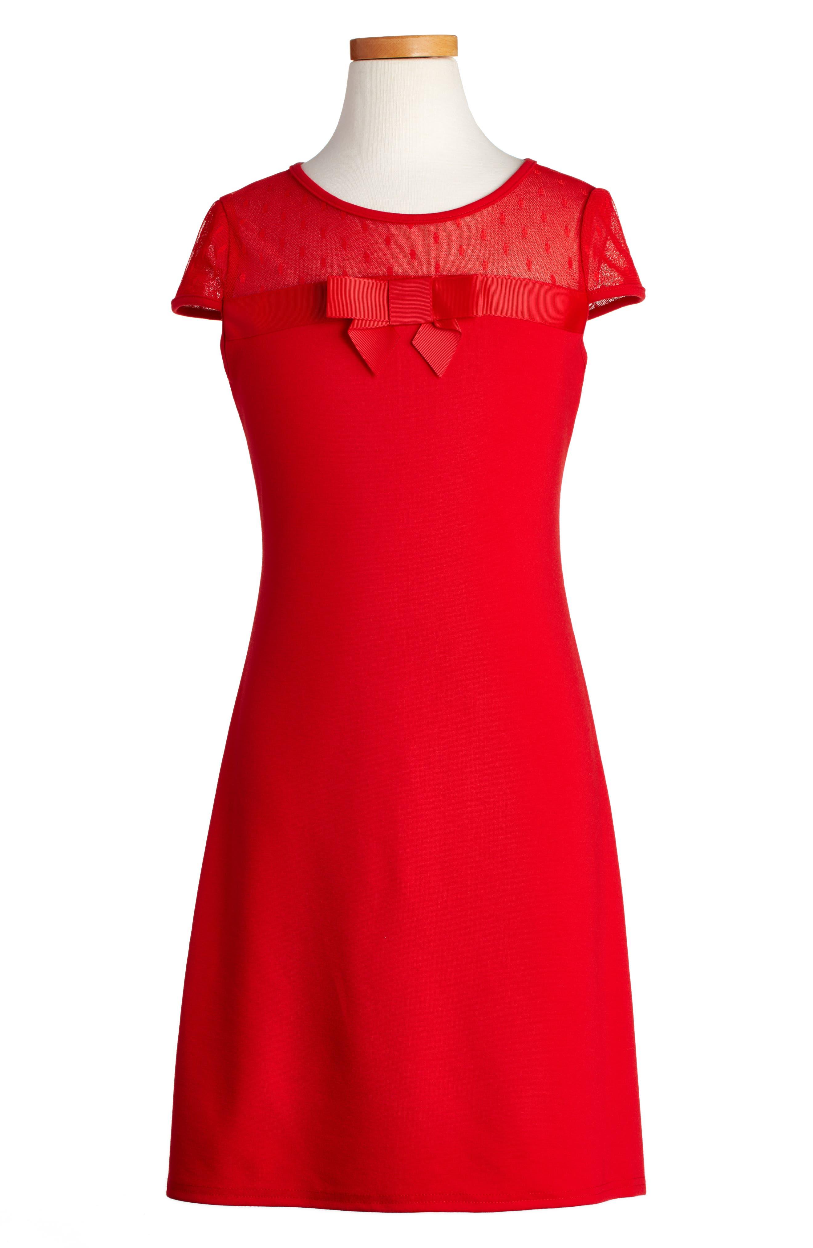 Main Image - BLUSH by Us Angels Empire Sheath Dress (Big Girls)