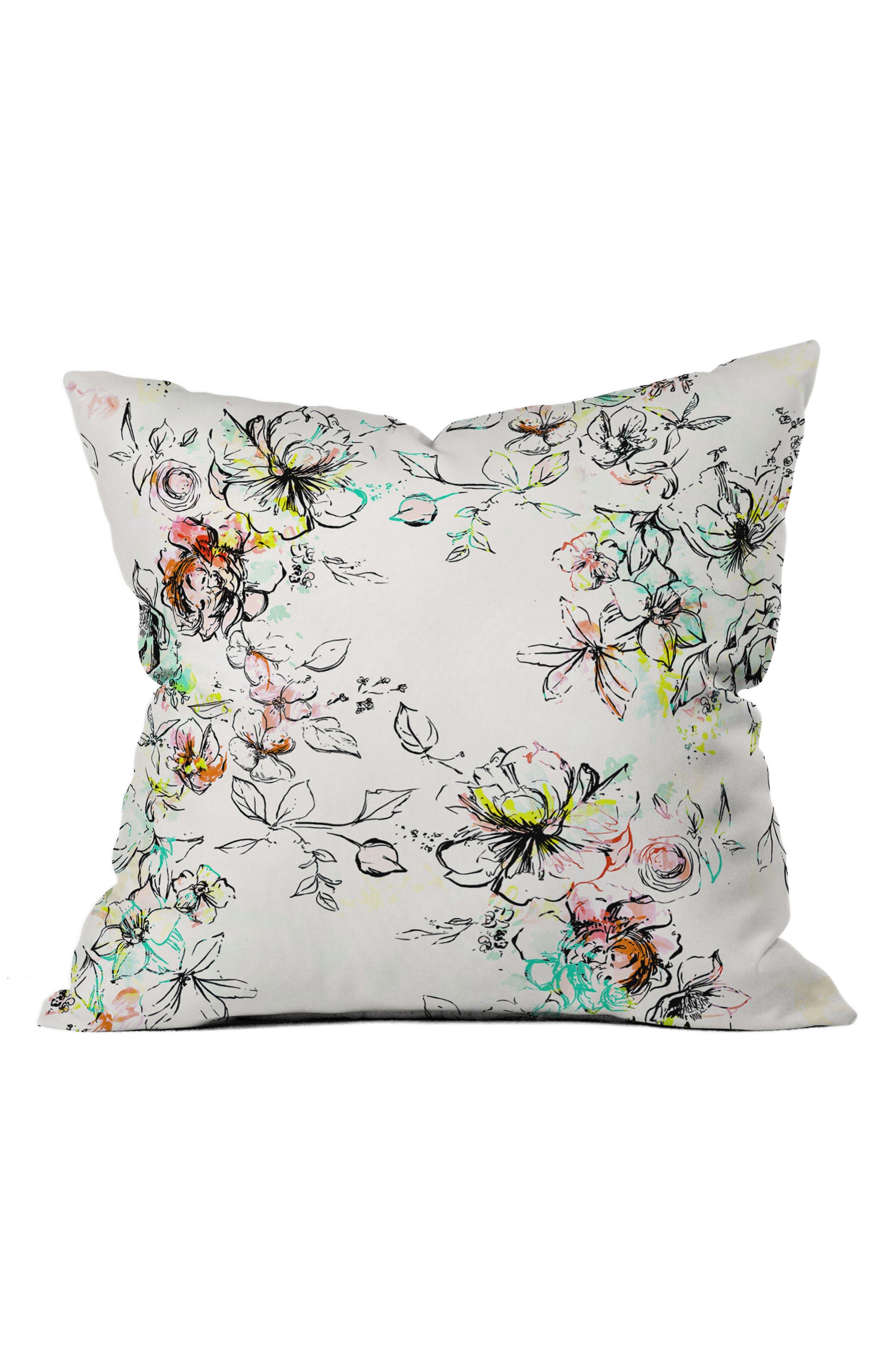 Floral Pillow,                         Main,                         color, White/ Multi