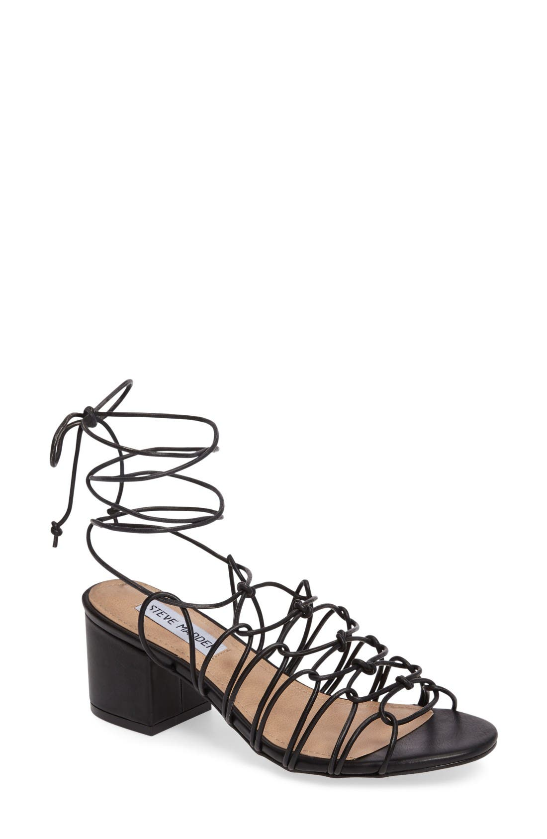 Alternate Image 1 Selected - Steve Madden Illie Knotted Lace Sandal (Women)