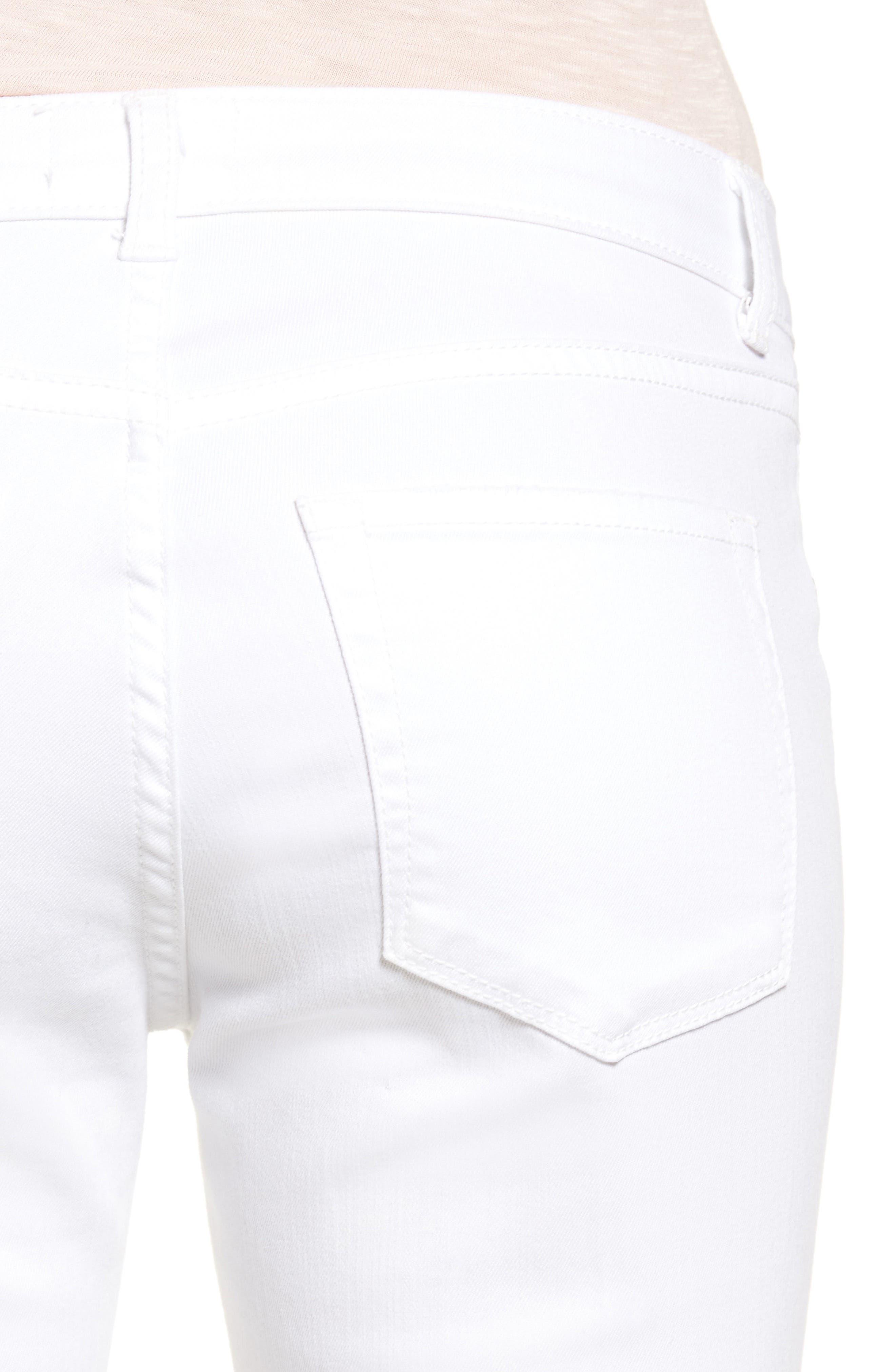 Alternate Image 5  - Caslon® Distressed Skinny Jeans (Regular & Petite)
