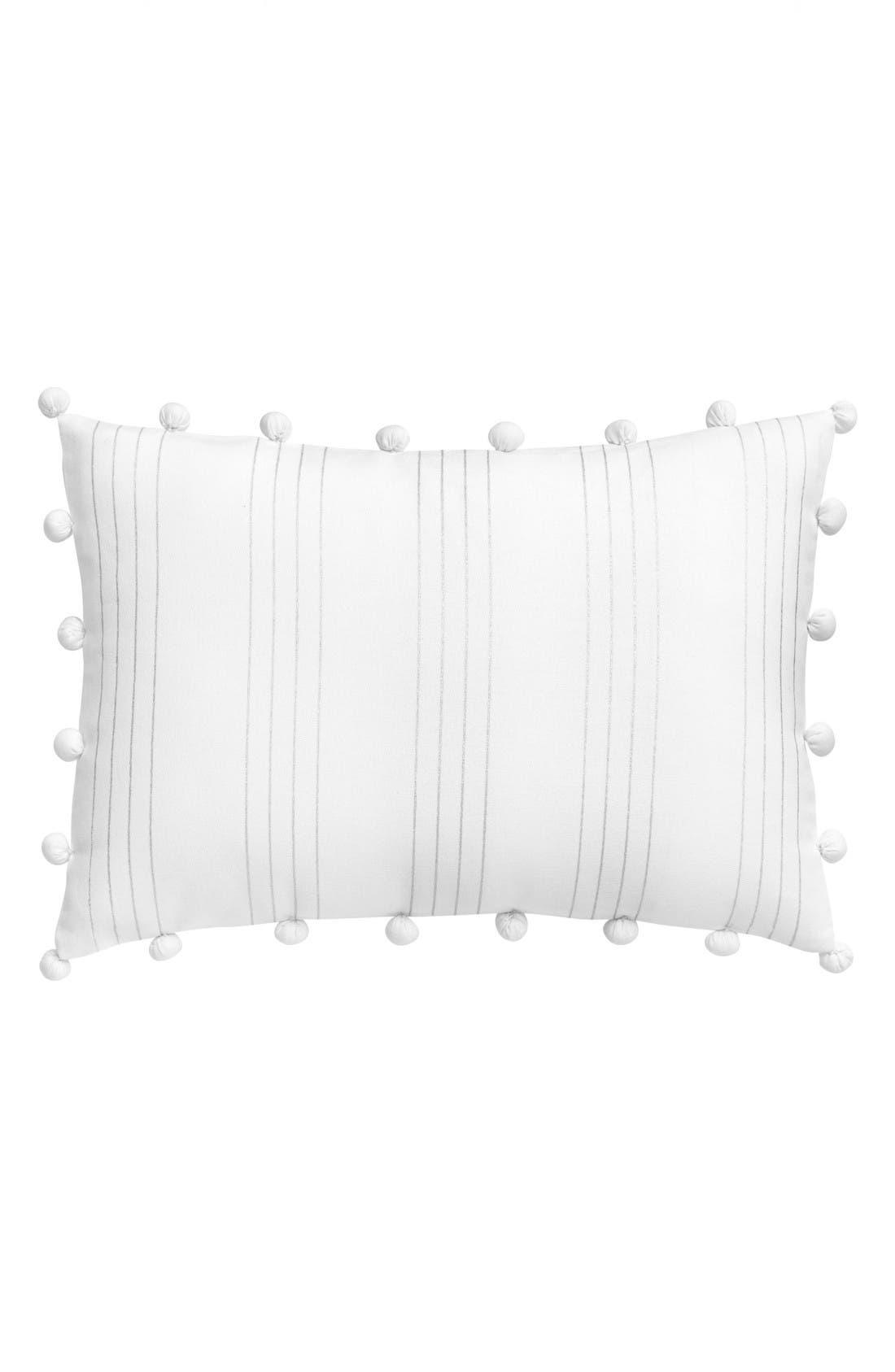 Capri Stripe Pillow,                             Main thumbnail 1, color,                             White