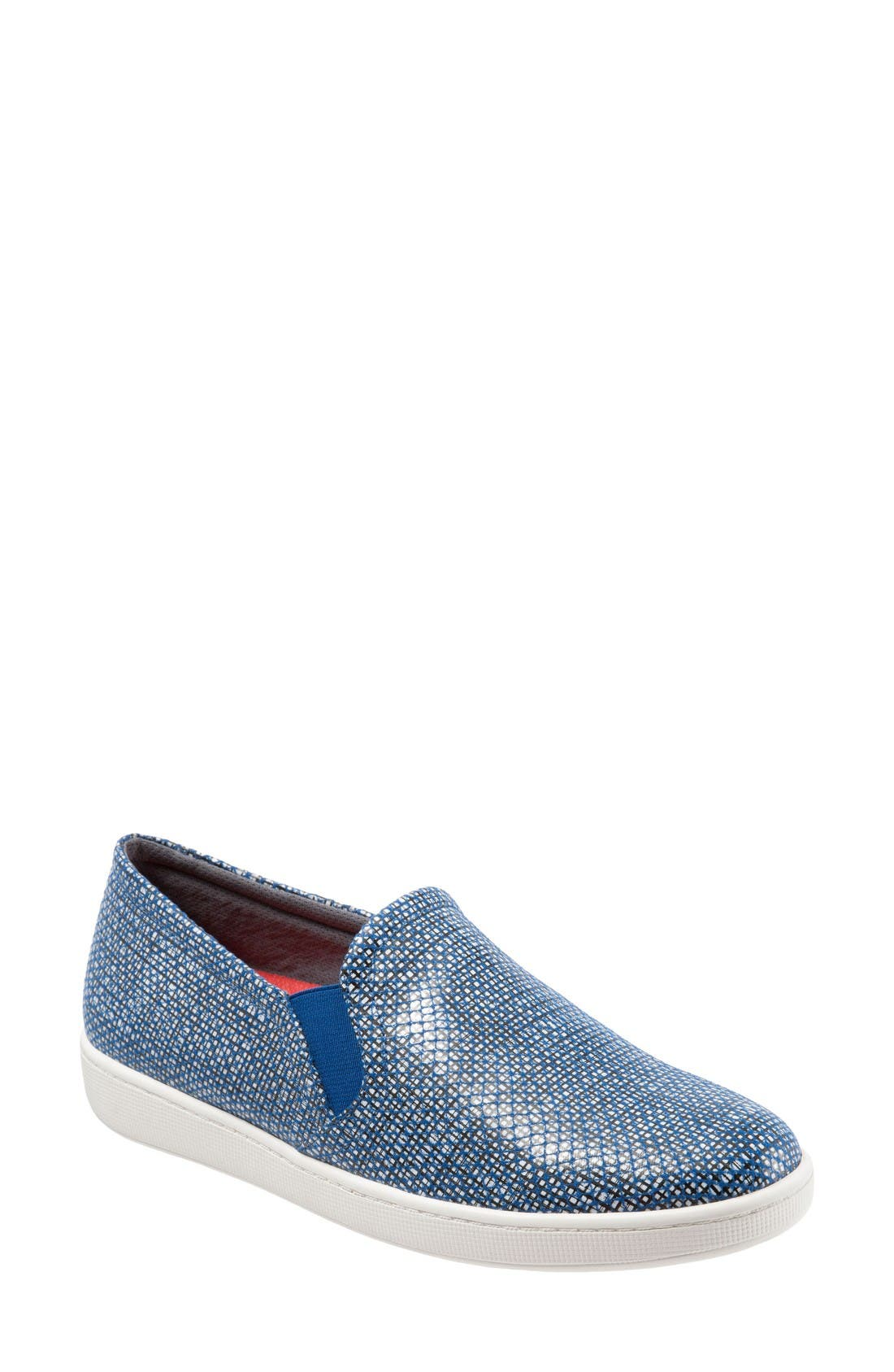'Americana' Slip-On Sneaker,                         Main,                         color, Navy Perforated