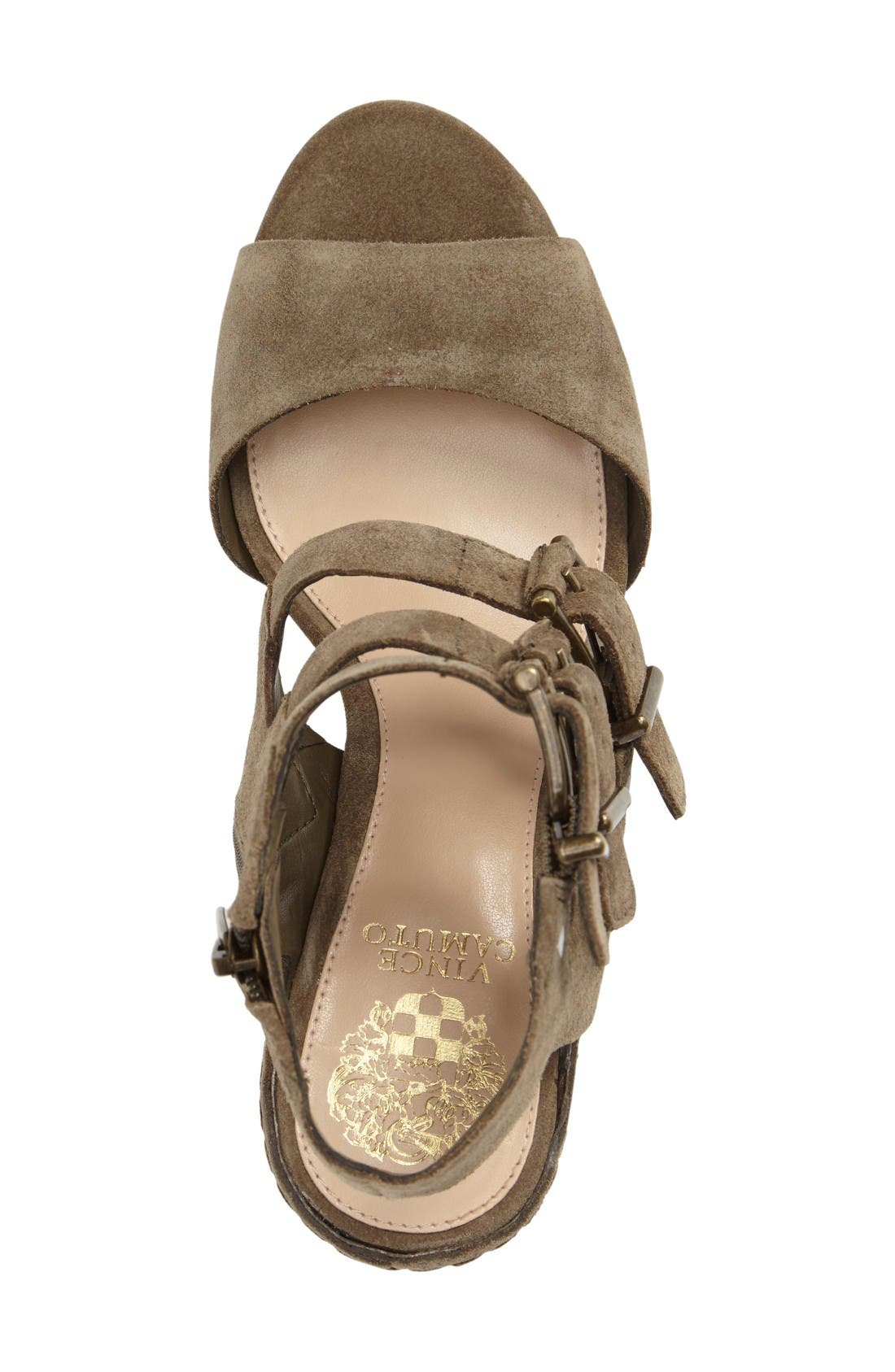 Geriann Strappy Slingback Sandal,                             Alternate thumbnail 3, color,                             Truffle Suede