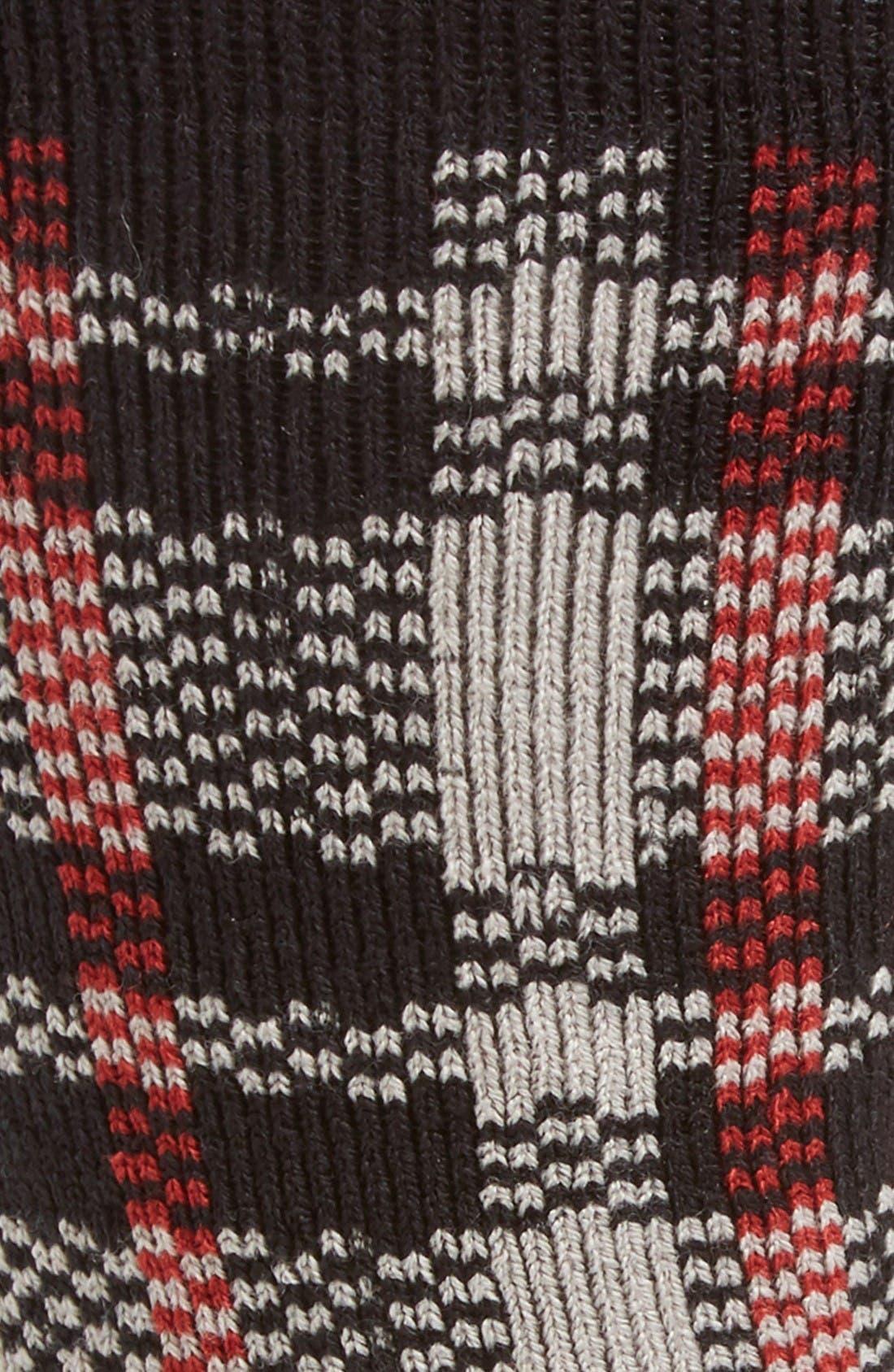 Plaid Socks,                             Alternate thumbnail 2, color,                             Seal Plaid