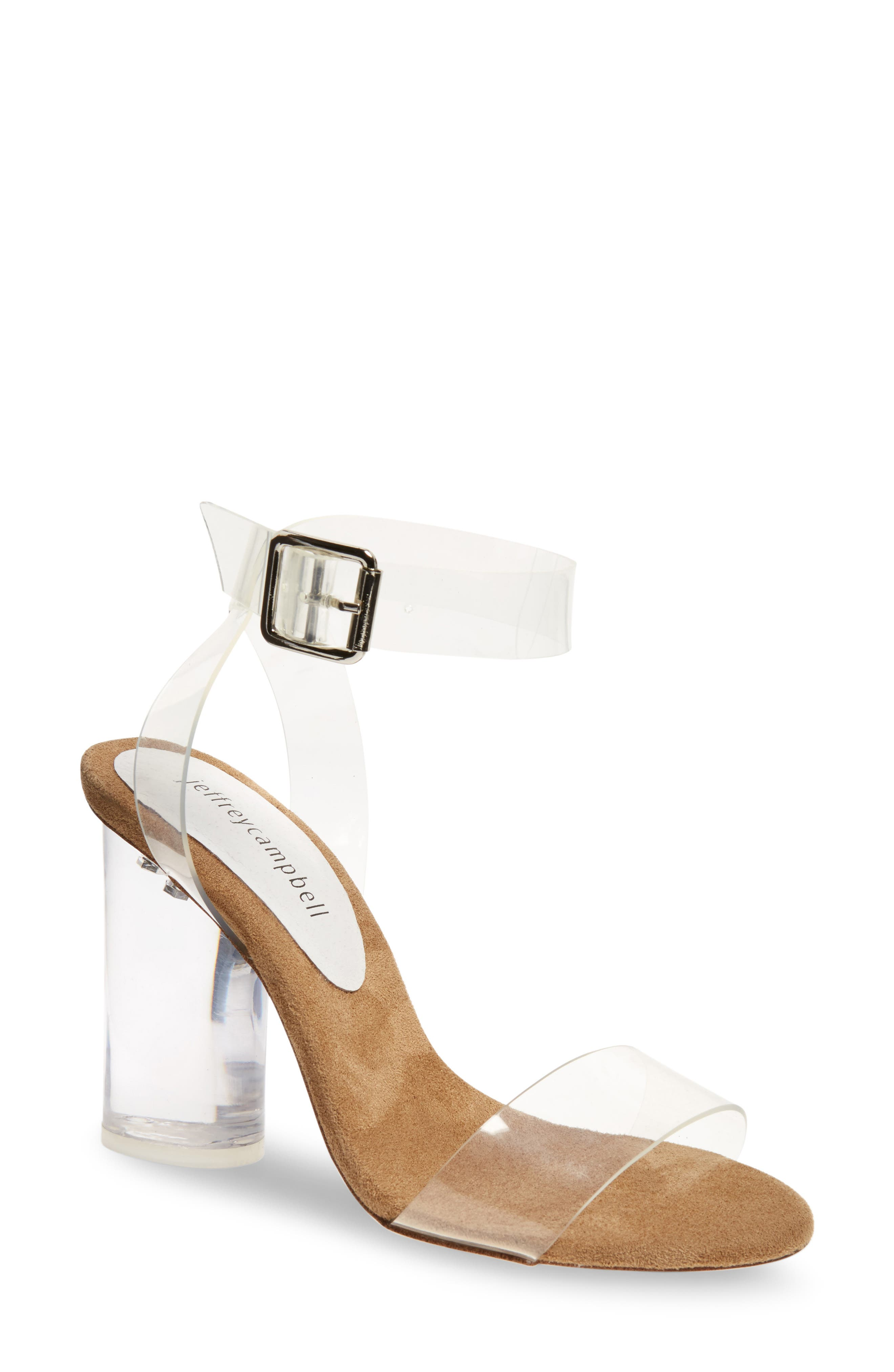Alternate Image 1 Selected - Jeffrey Campbell Clear Heel Sandal (Women)
