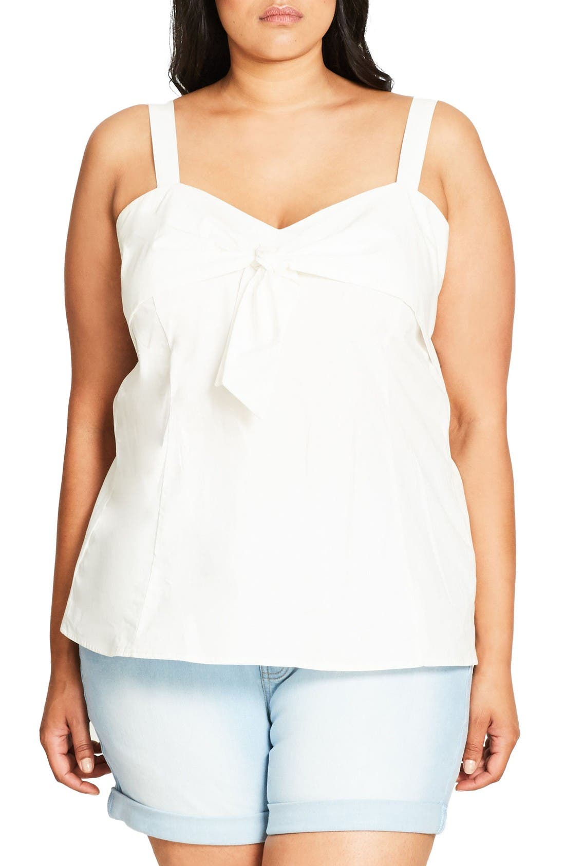 Main Image - City Chic Sweetie Bow Top (Plus Size)