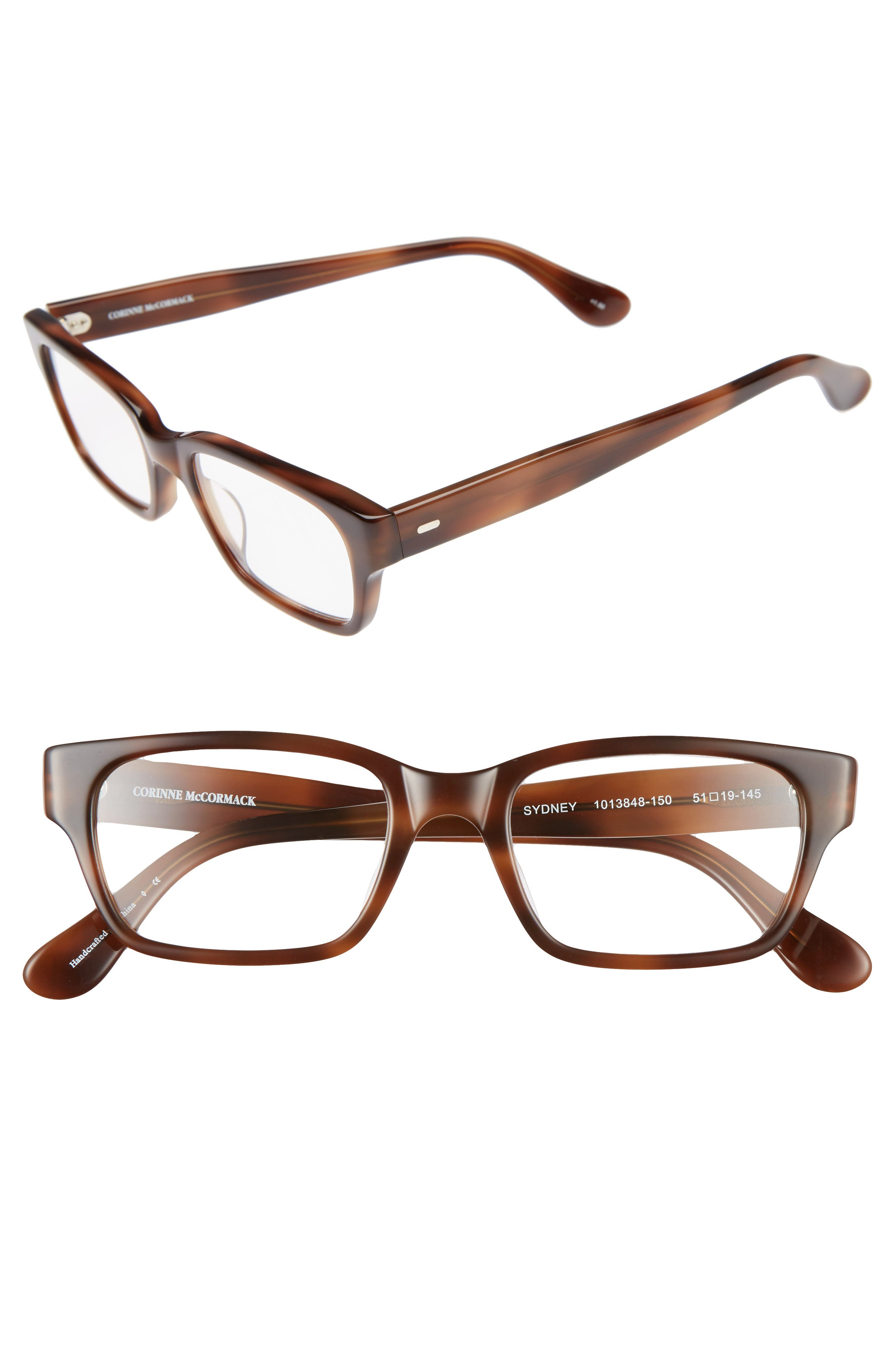 Sydney 51mm Reading Glasses,                         Main,                         color, Brown Fade