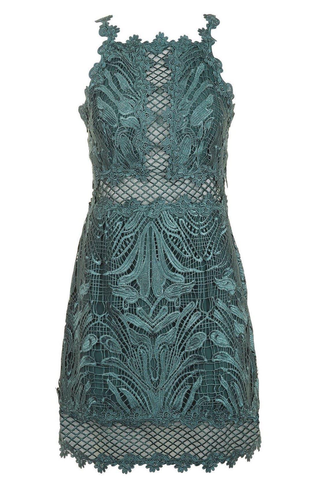 Alternate Image 4  - Topshop Lace Detail Sleeveless A-Line Dress (Regular & Petite)
