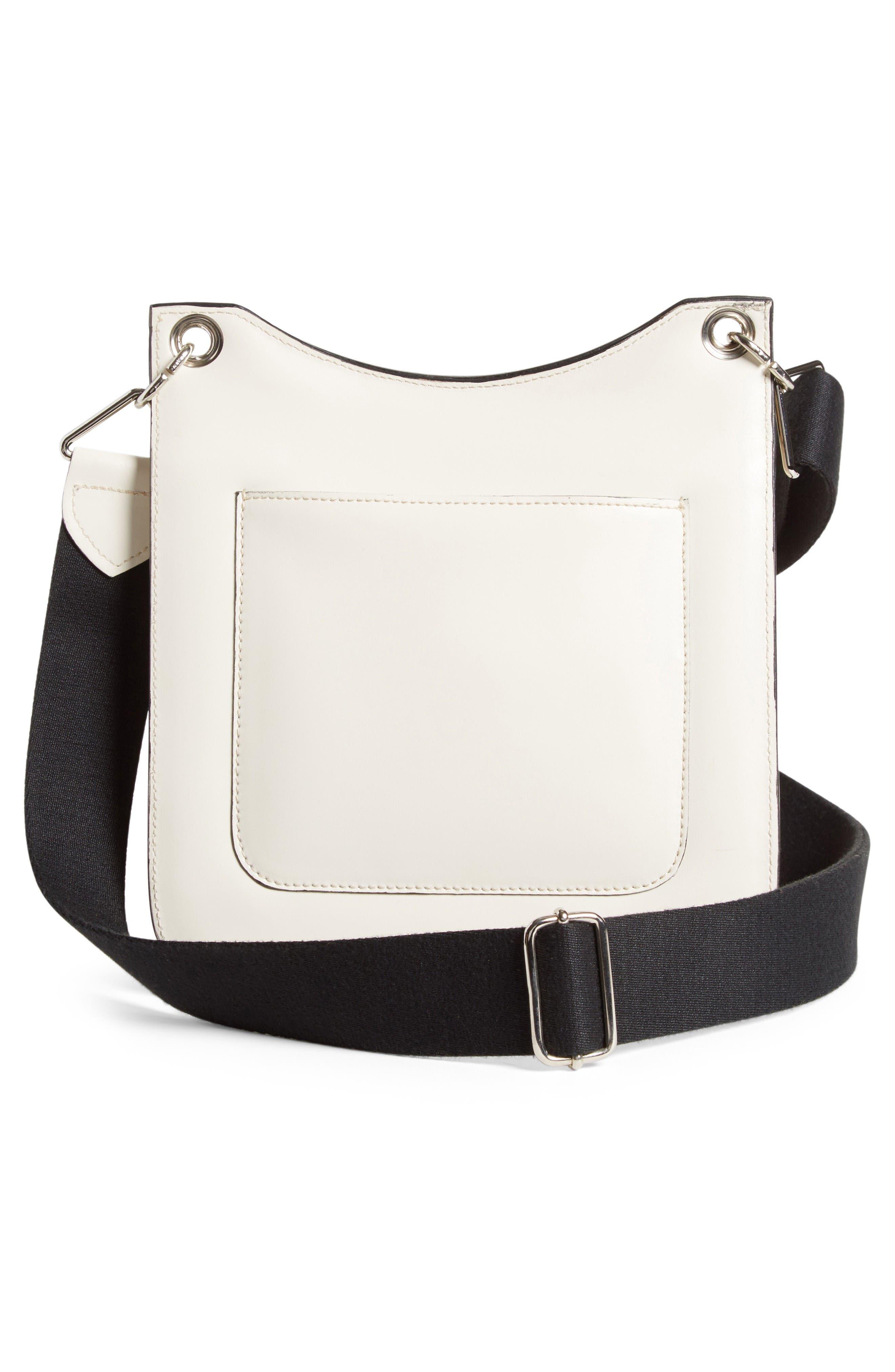 Equestrian Crossbody Bag,                             Alternate thumbnail 3, color,                             White