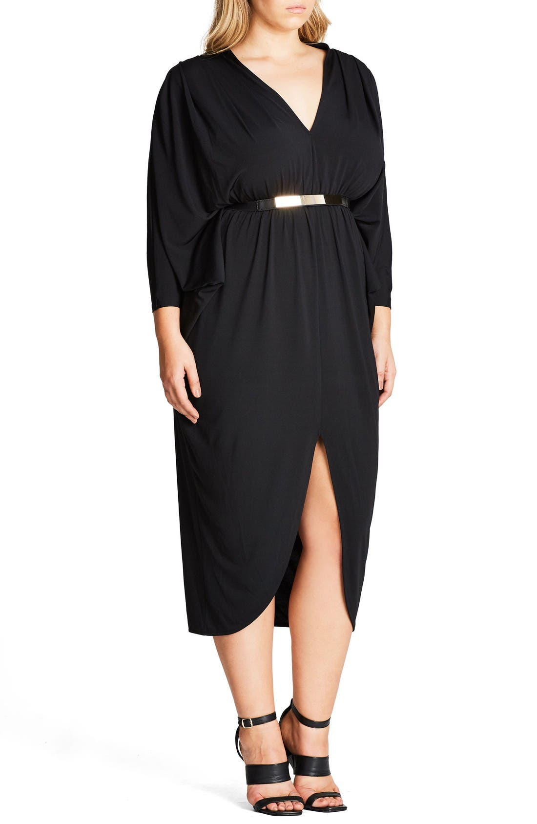 Alternate Image 3  - City Chic Va Va Voom Belted Maxi Dress (Plus Size)
