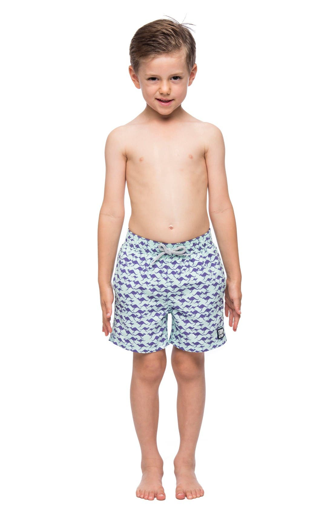 Main Image - Tom & Teddy Kangaroo Swim Trunks (Toddler Boys, Little Boys & Big Boys)