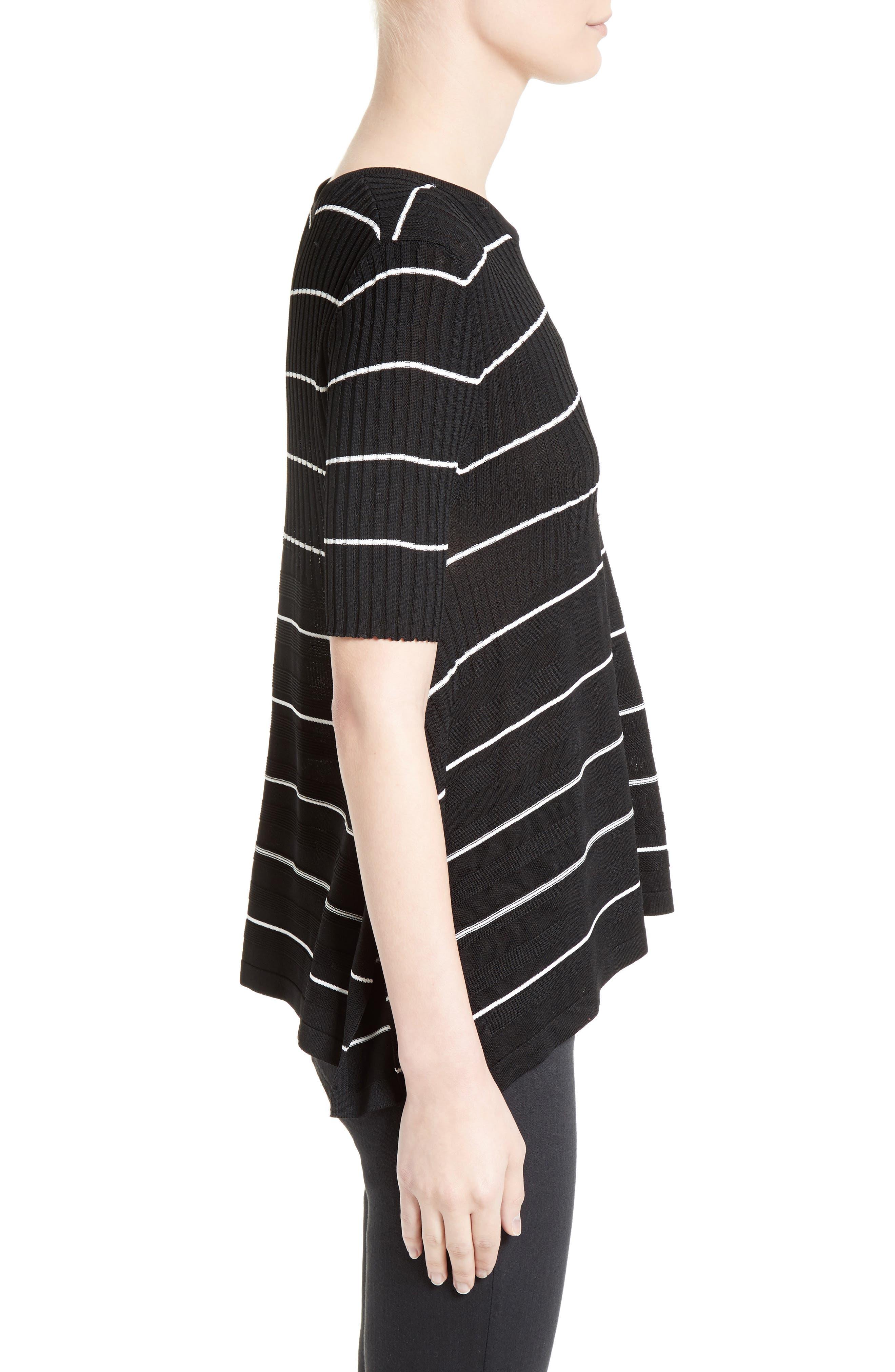 Delta Stripe Top,                             Alternate thumbnail 3, color,                             Black