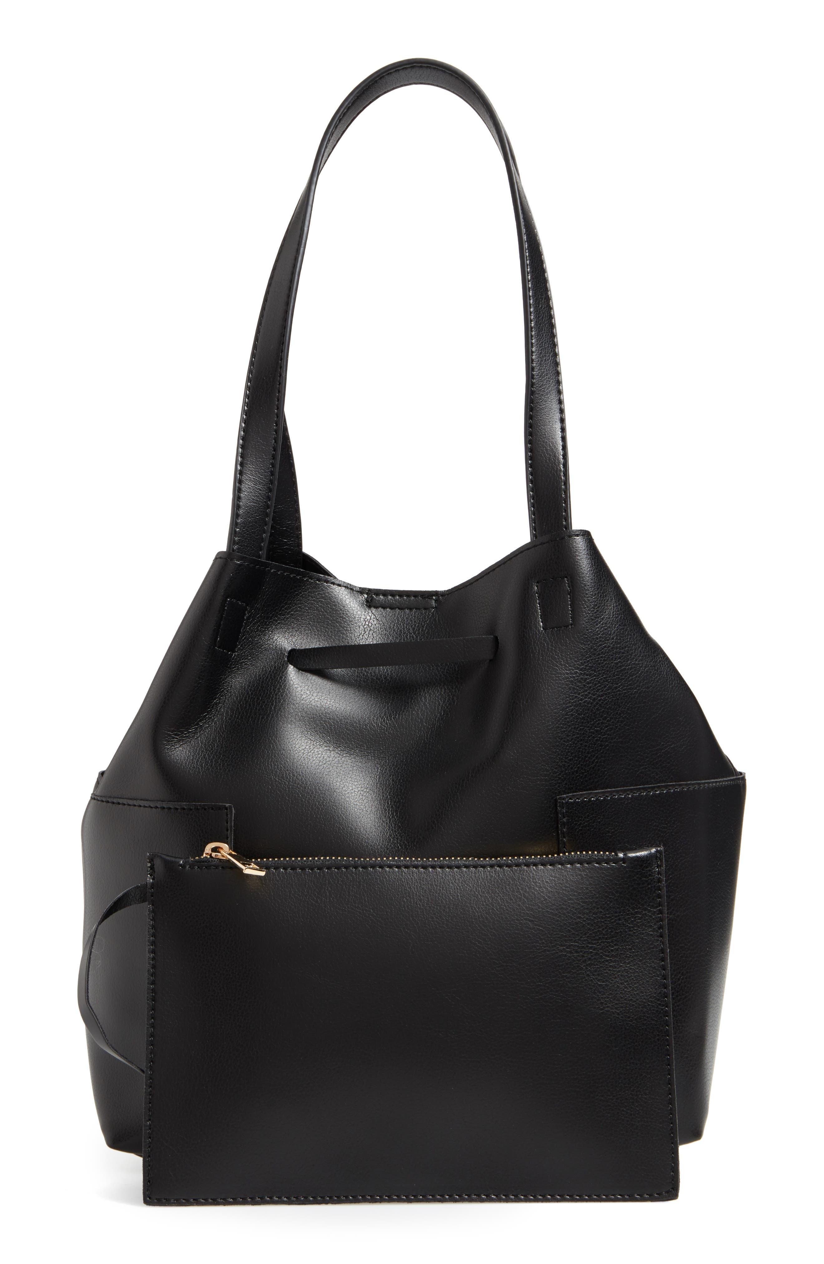Alternate Image 3  - Sole Society Jocelynn Faux Leather Bucket Bag