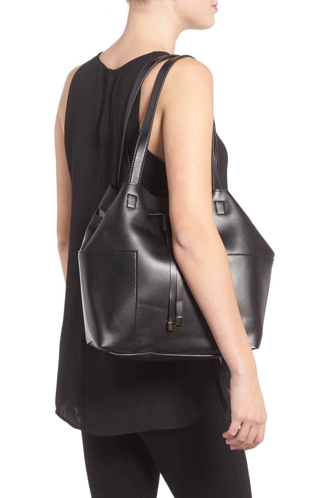 Alternate Image 2  - Sole Society Jocelynn Faux Leather Bucket Bag