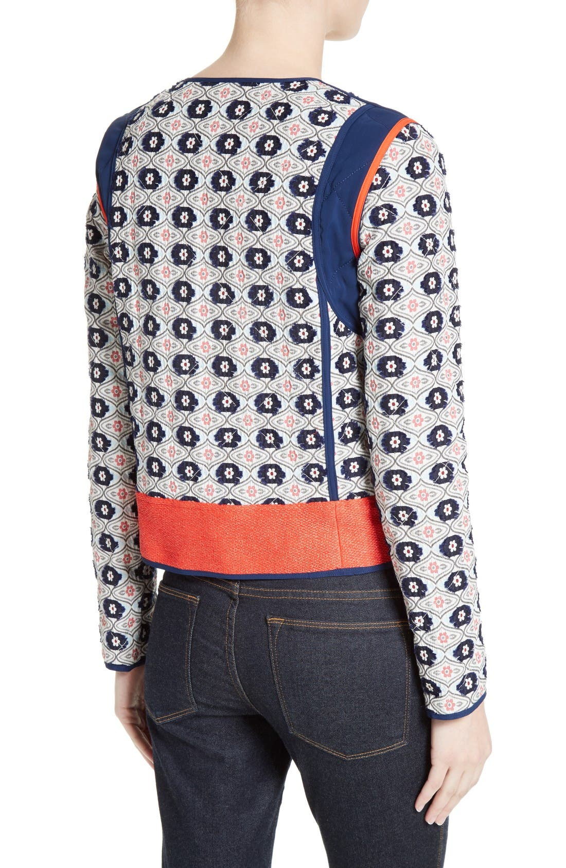 Alternate Image 2  - Tory Burch Rainford Clip Jacquard Quilted Jacket