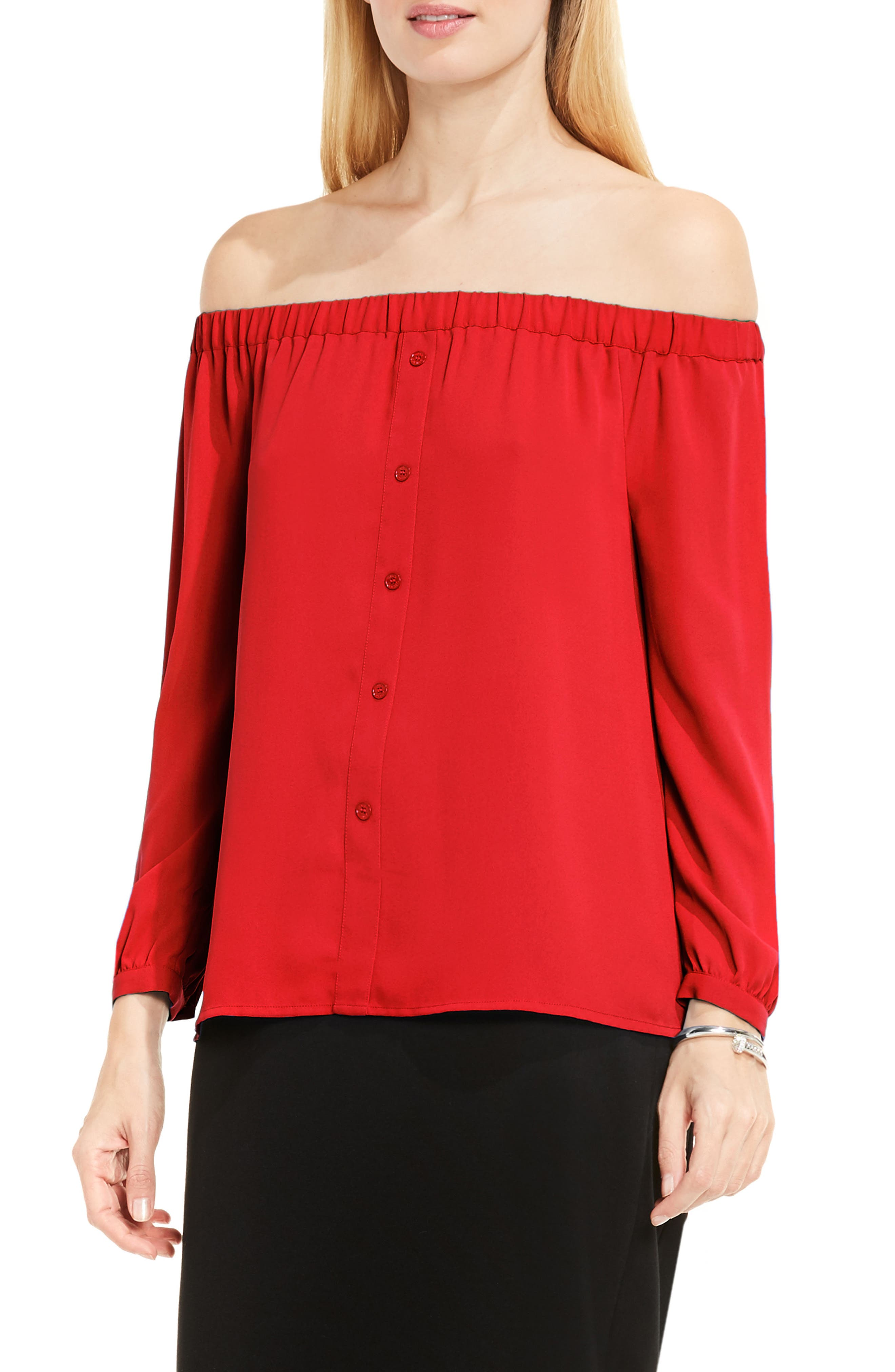 Alternate Image 1 Selected - Vince Camuto Off the Shoulder Blouse