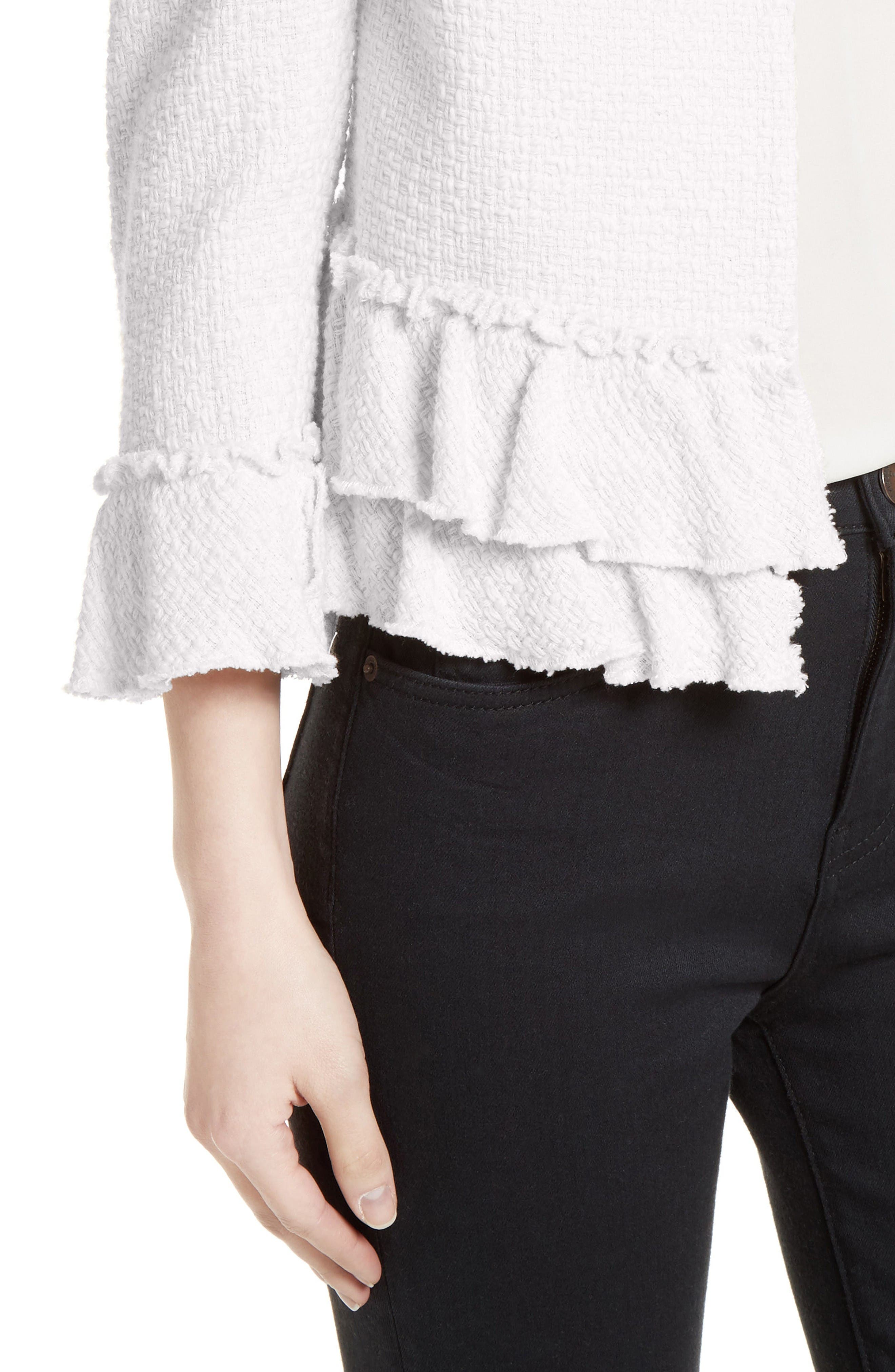 Alternate Image 4  - Helene Berman Frill Tweed Jacket