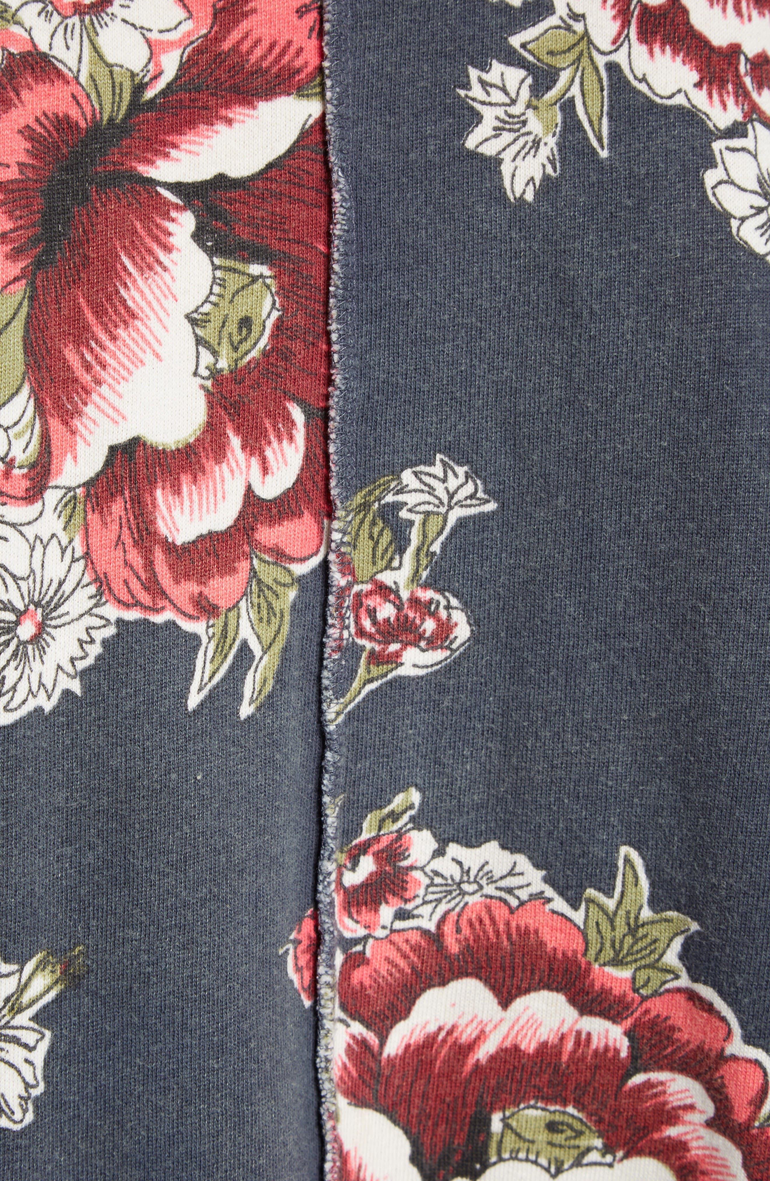 Go on Get Floral Sweatshirt,                             Alternate thumbnail 5, color,                             Black