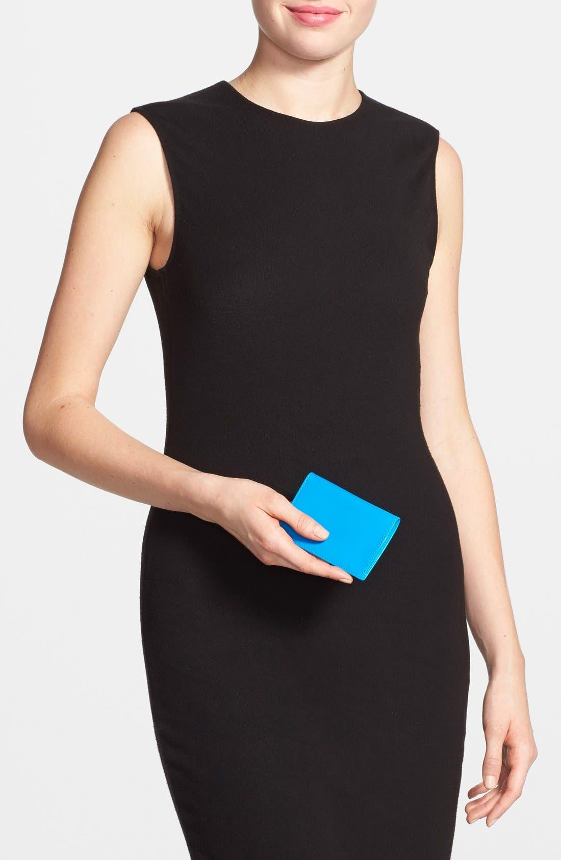 Alternate Image 4  - Comme des Garçons 'Super Fluo' Leather Card Case