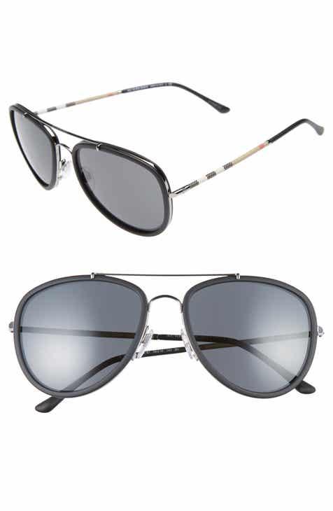 812e6bf4ed4b Burberry 58mm Aviator Sunglasses