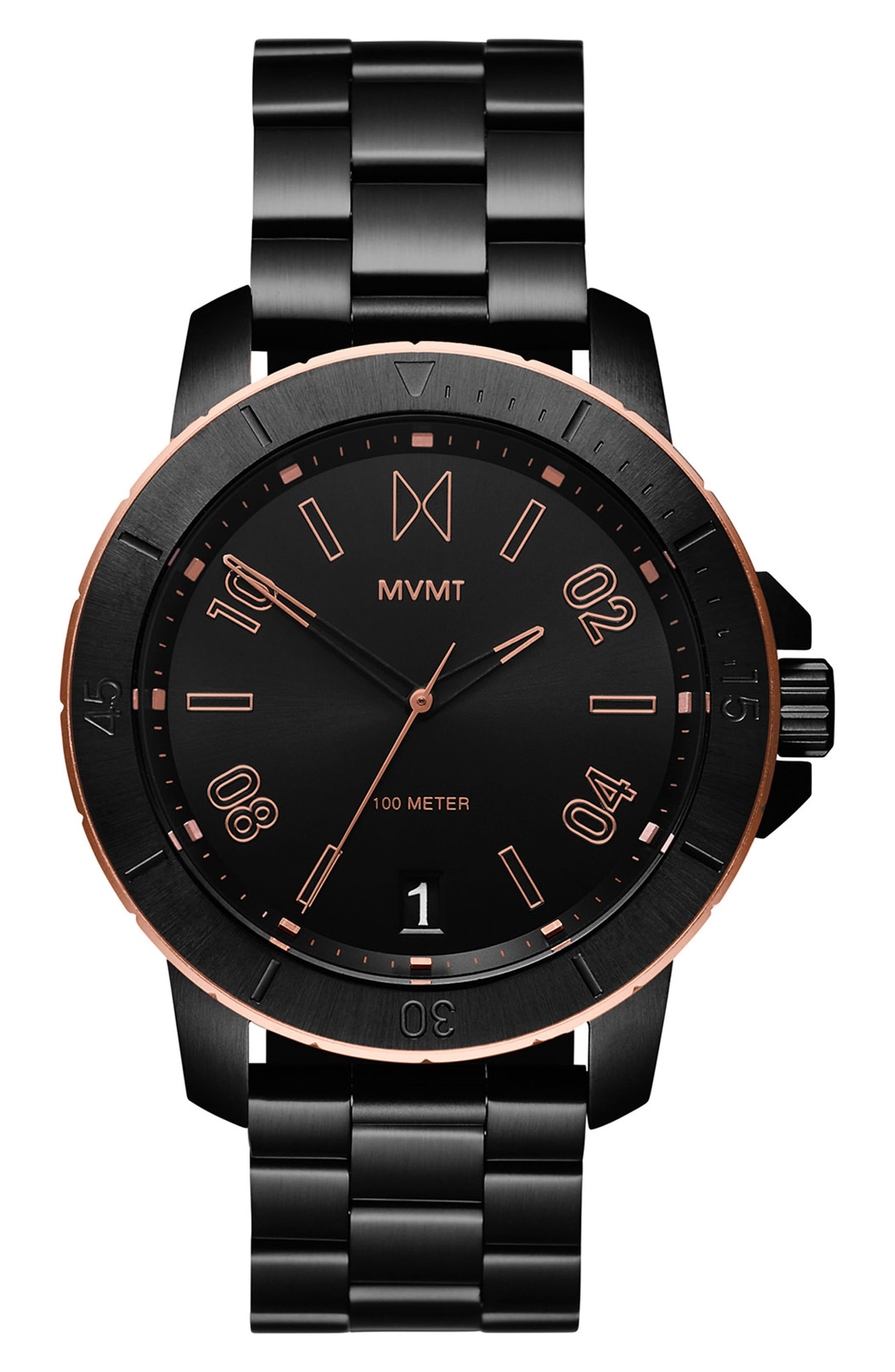 Modern Sport Bracelet Watch, 42mm,                         Main,                         color, Black/ Black