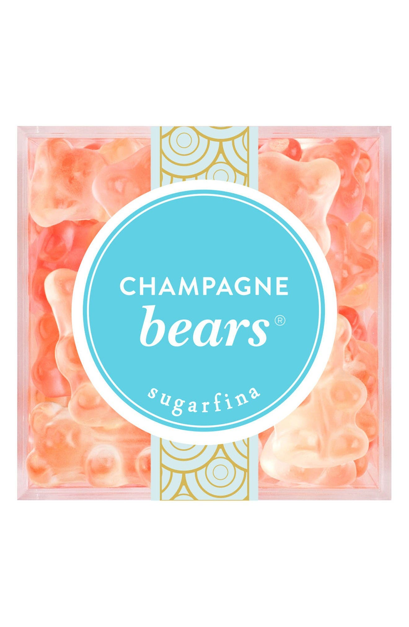 Champagne Bears<sup>®</sup> Large Candy Cube,                             Main thumbnail 1, color,                             Blue