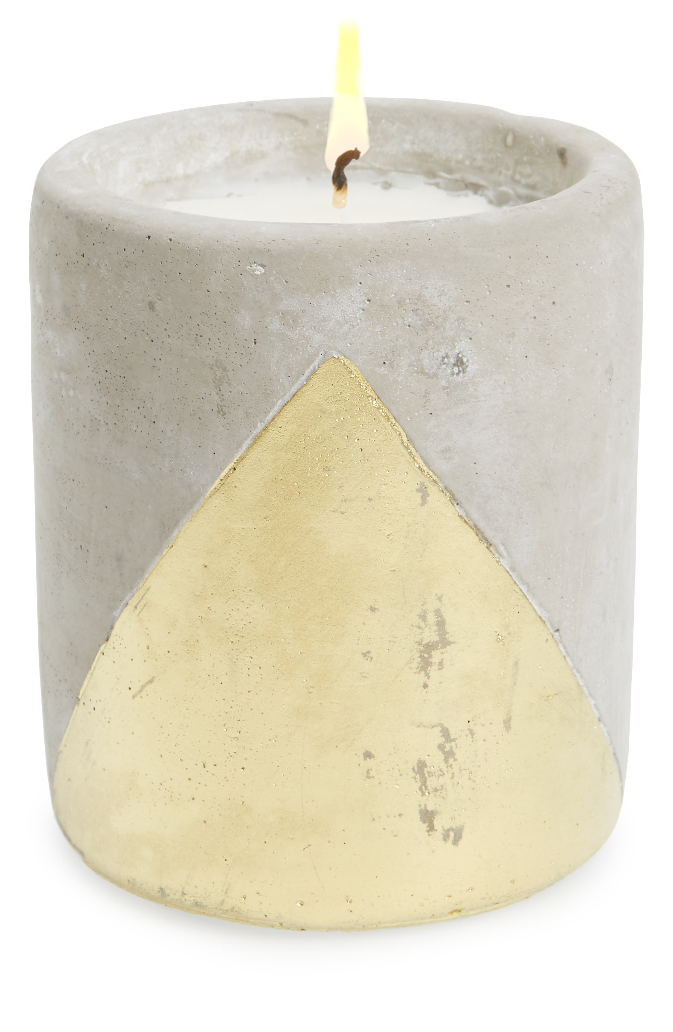 Urban Concrete Soy Wax Candle,                         Main,                         color, Amber/ Smoke