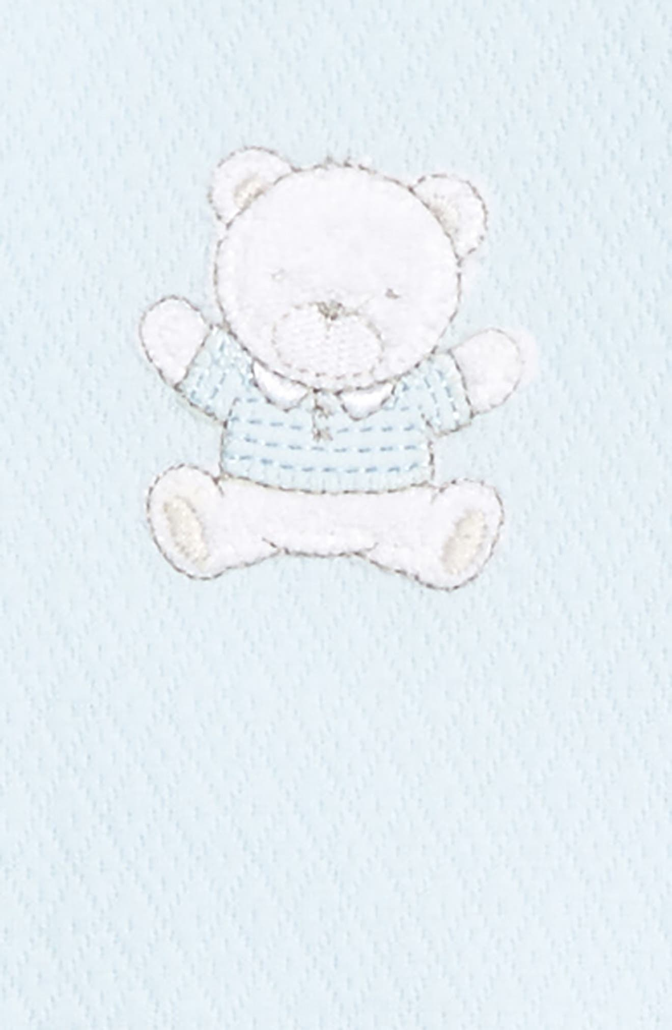 Alternate Image 2  - Little Me Bear Footie & Beanie Set (Baby Boys)