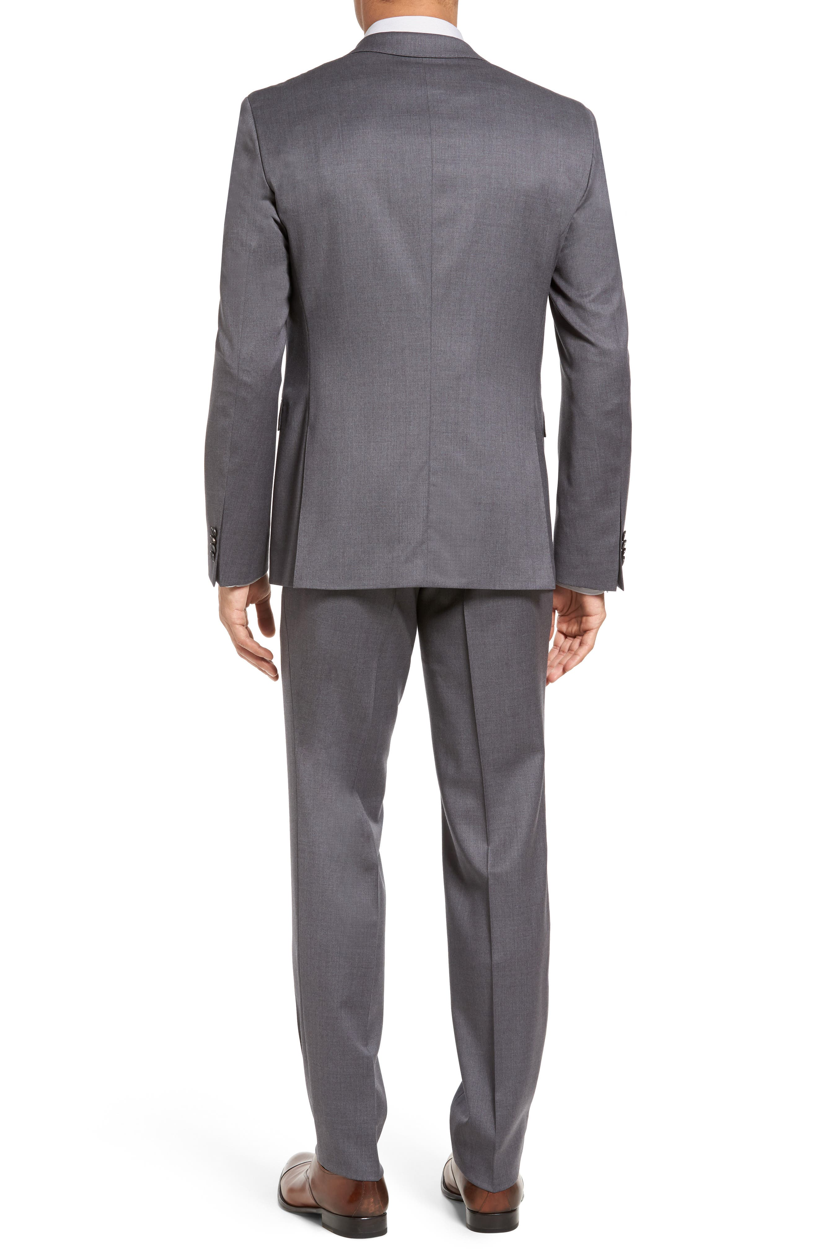 Ryan/Win Trim Fit Solid Wool Suit,                             Alternate thumbnail 3, color,                             Medium Grey
