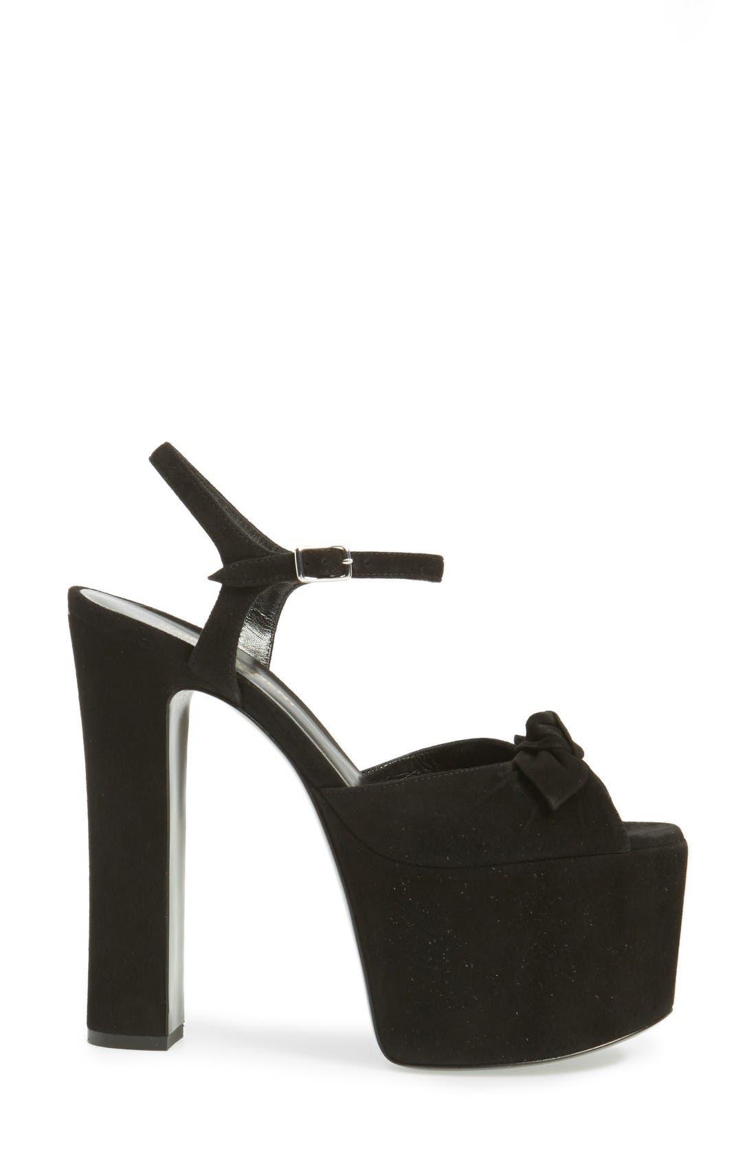 Alternate Image 4  - Saint Laurent Betty Platform Sandal (Women)