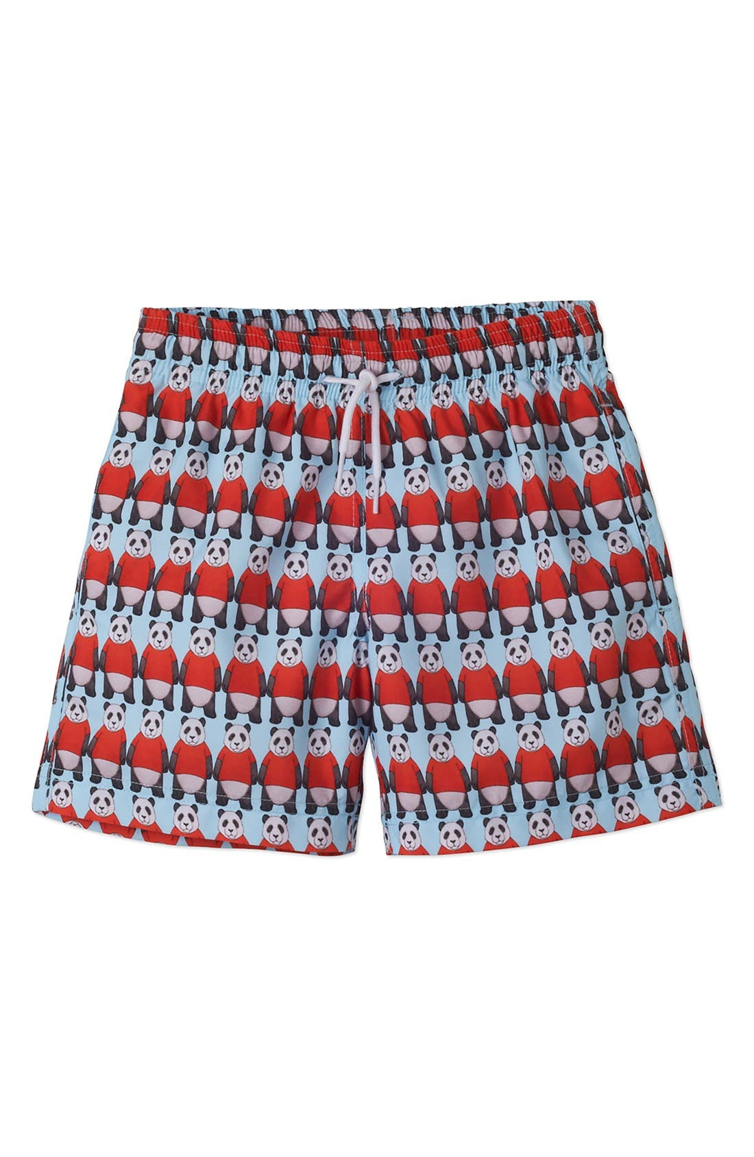Alternate Image 1 Selected - Stella Cove Panda Swim Trunks (Toddler Boys & Little Boys)