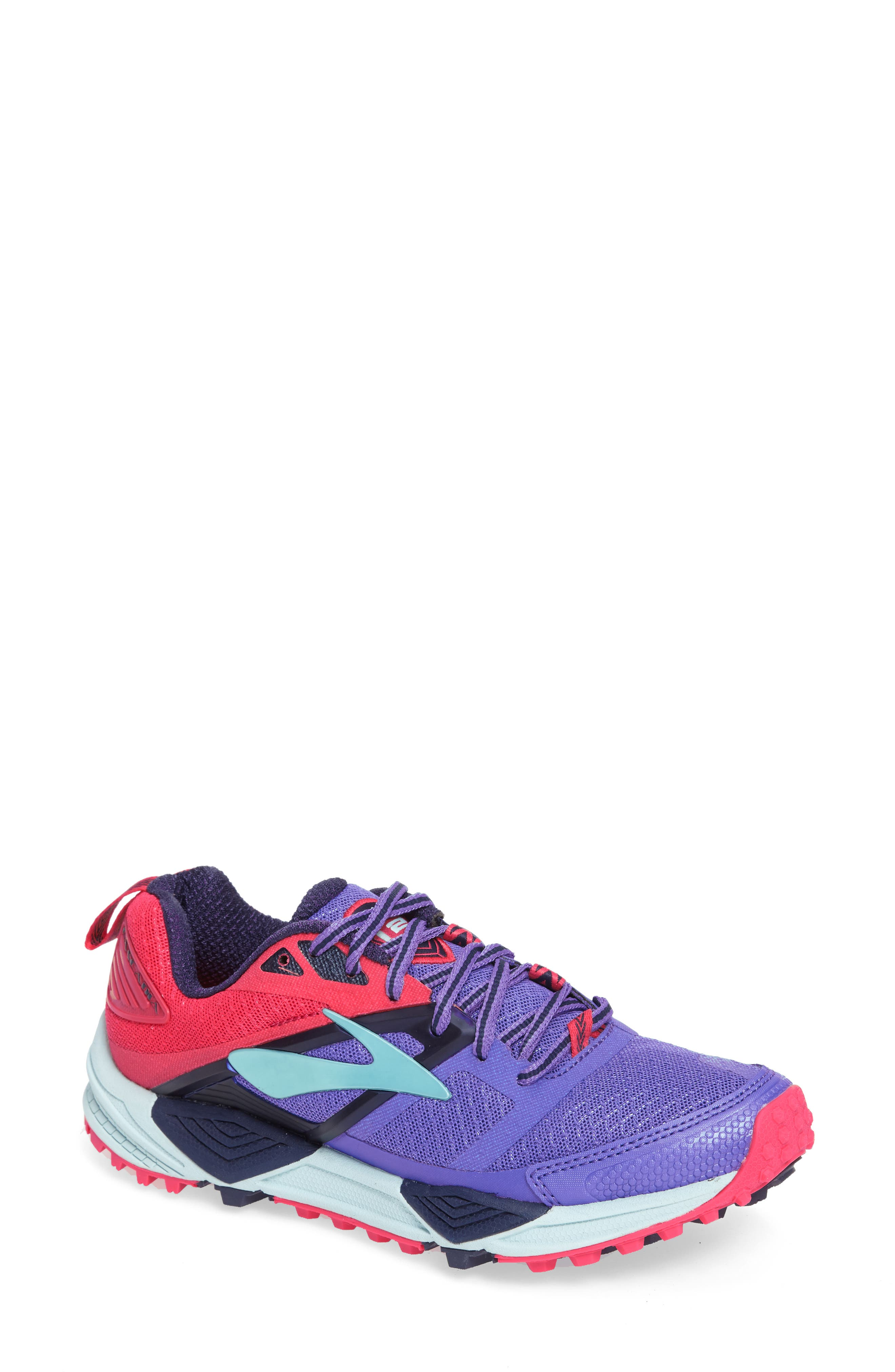 Cascadia 12 Trail Running Shoe,                         Main,                         color, Baja Blue/ Pink/ Clearwater