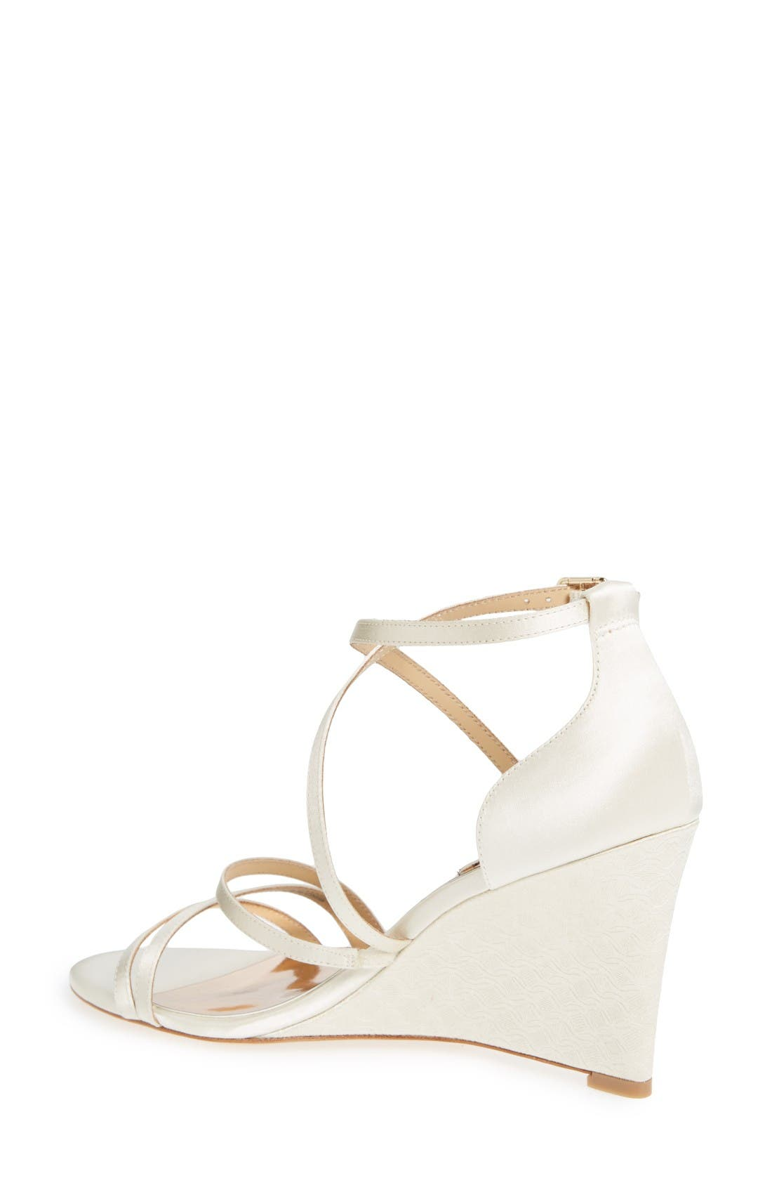 Alternate Image 2  - Badgley Mischka Bonanza Strappy Wedge Sandal (Women)