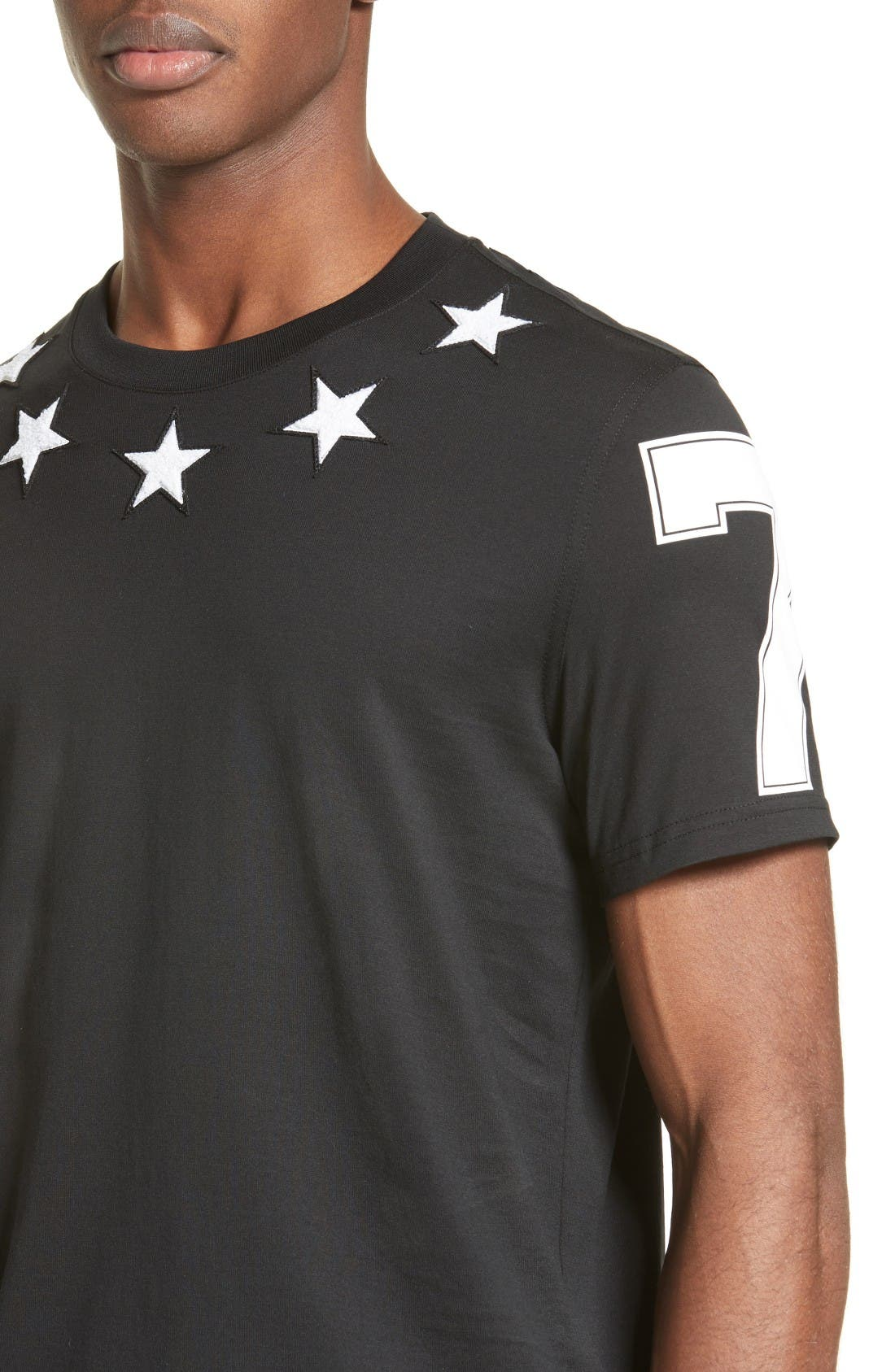 Star 74 T-Shirt,                             Alternate thumbnail 4, color,                             Black