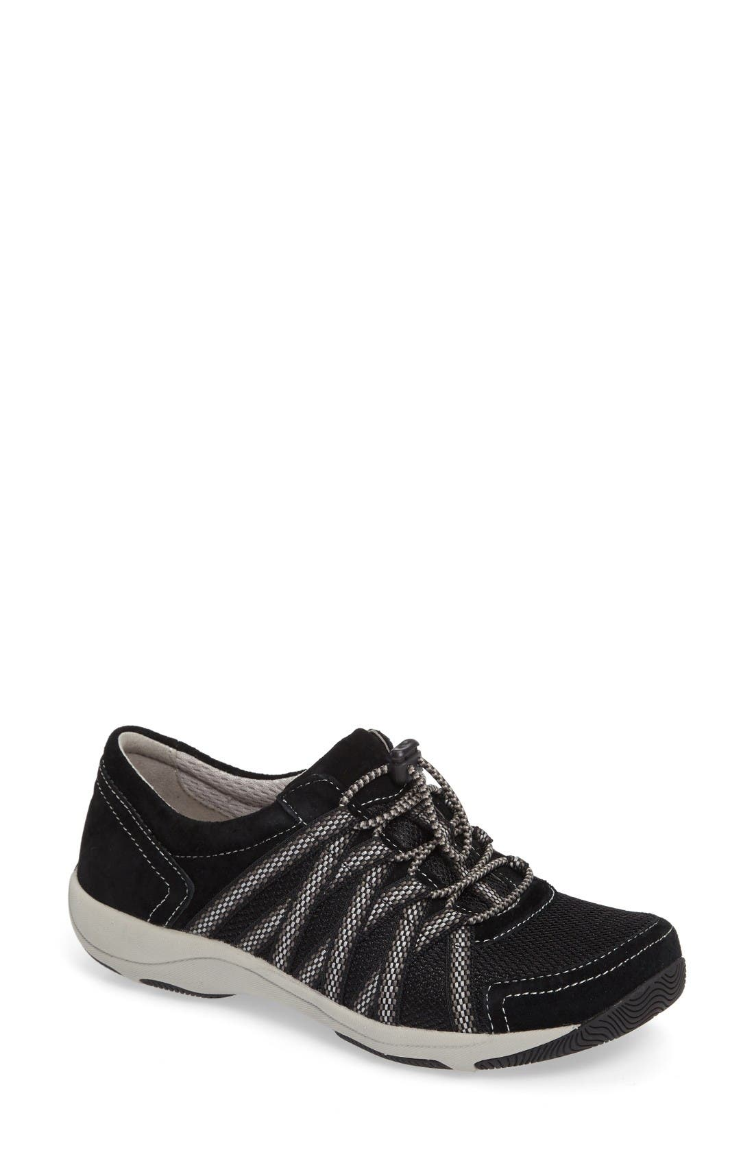 Halifax Collection Honor Sneaker,                             Main thumbnail 1, color,                             Black Suede