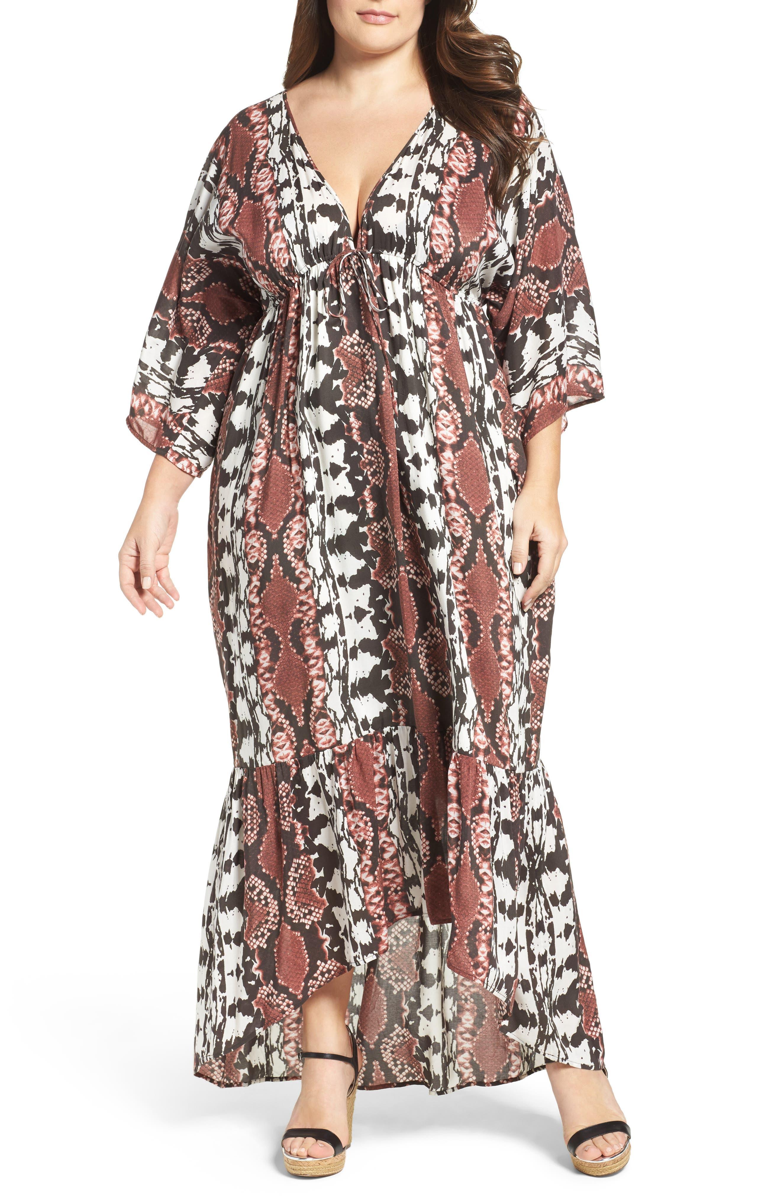 Camellia Maxi Dress,                         Main,                         color, Inkblot Python