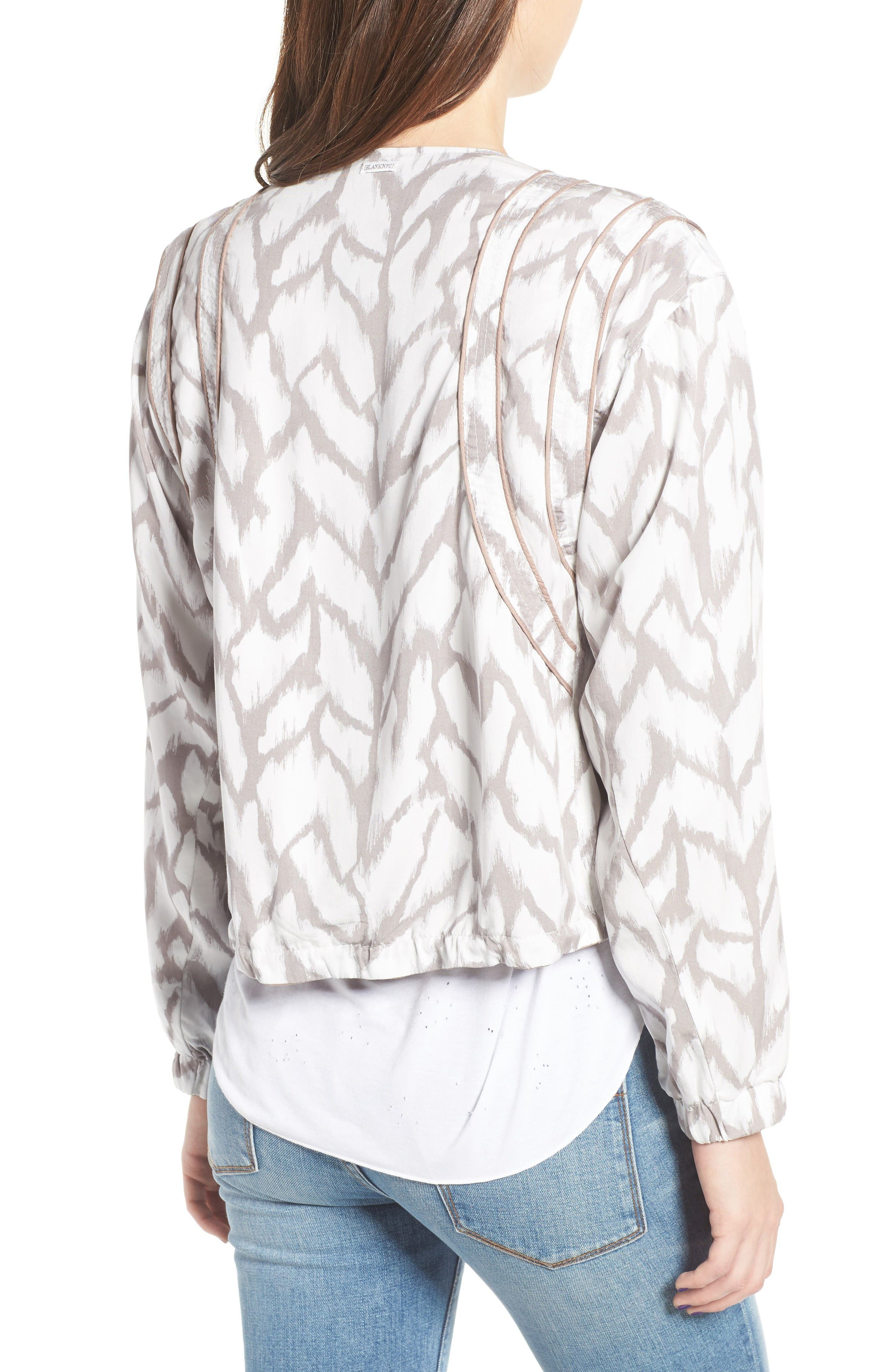 Deep Truth Reversible Jacket,                             Alternate thumbnail 4, color,                             Deep Truth Taupe/ White Print