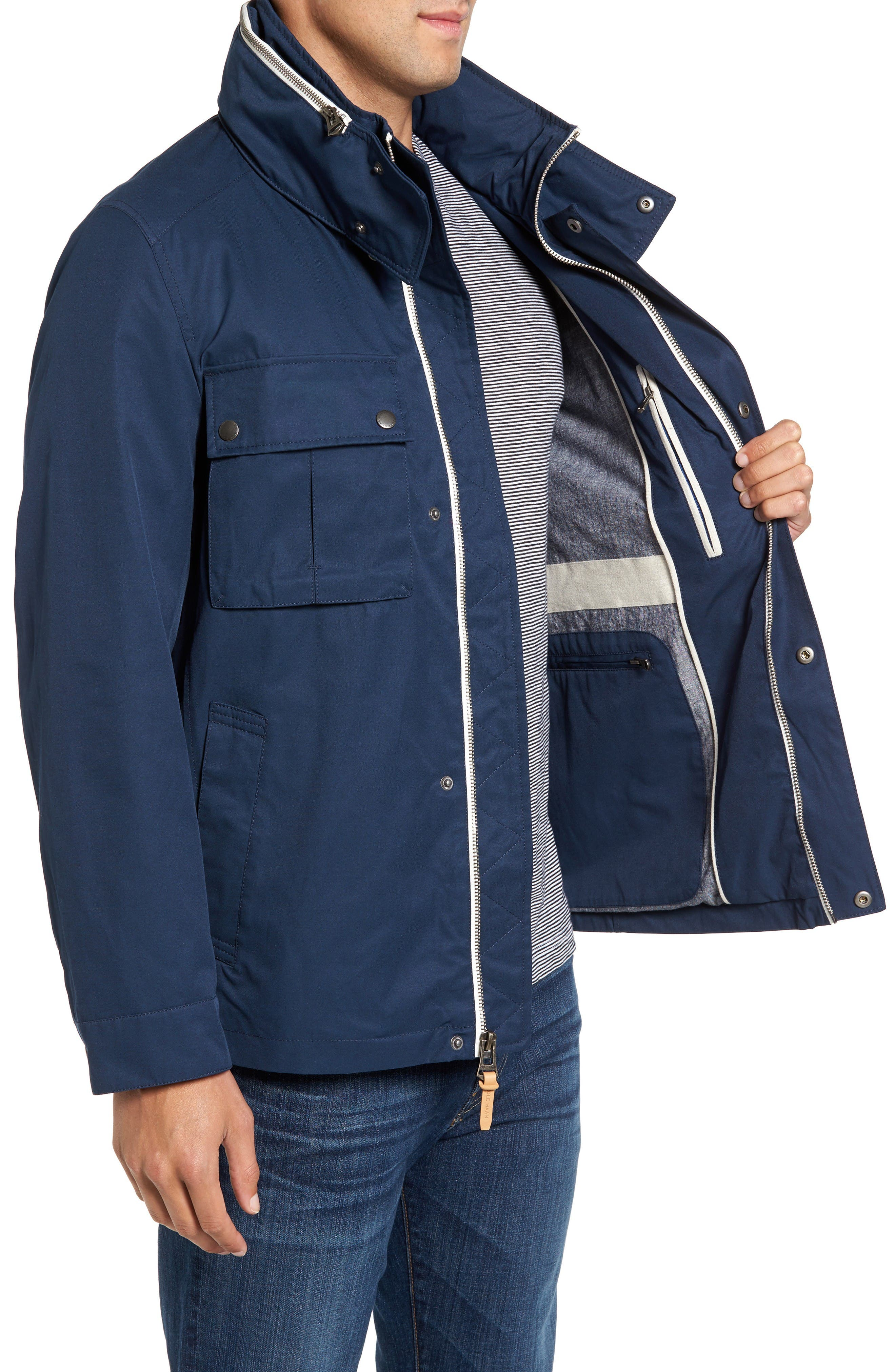 Military Oxford Jacket,                             Alternate thumbnail 3, color,                             Indigo