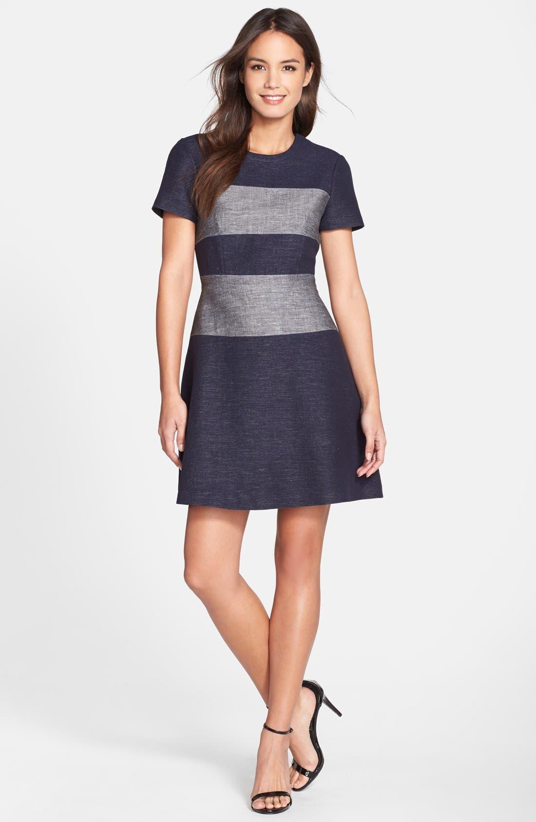 Alternate Image 3  - BCBGMAXAZRIA 'Romee' Stripe Fit & Flare Dress