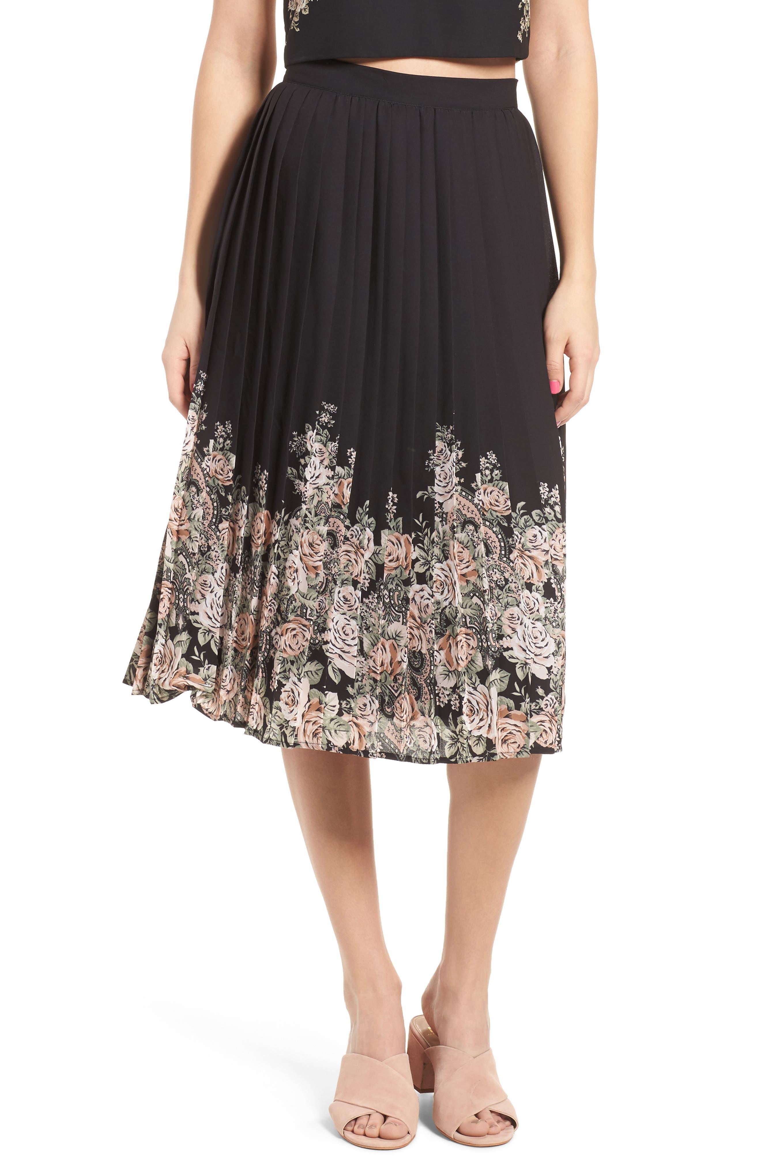 Main Image - June & Hudson Pleated Skirt