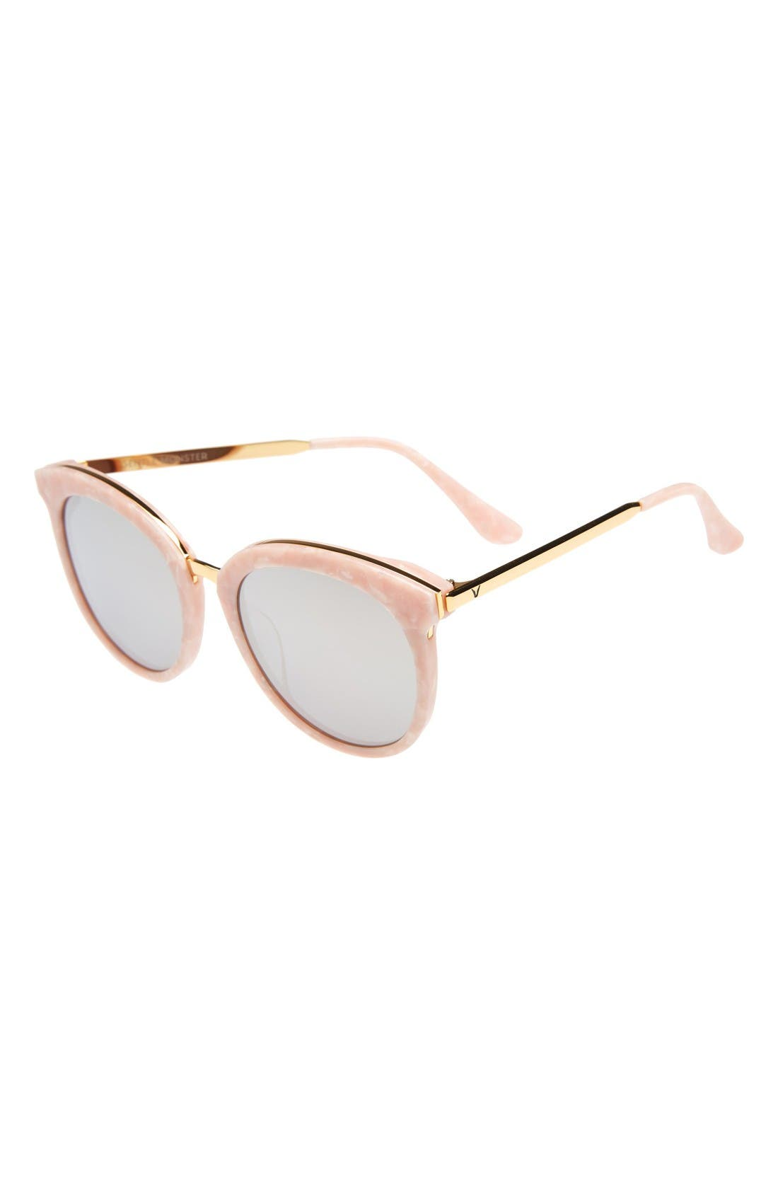 Lovesome 56mm Cat Eye Sunglasses,                             Alternate thumbnail 2, color,                             Light Pink/Gold