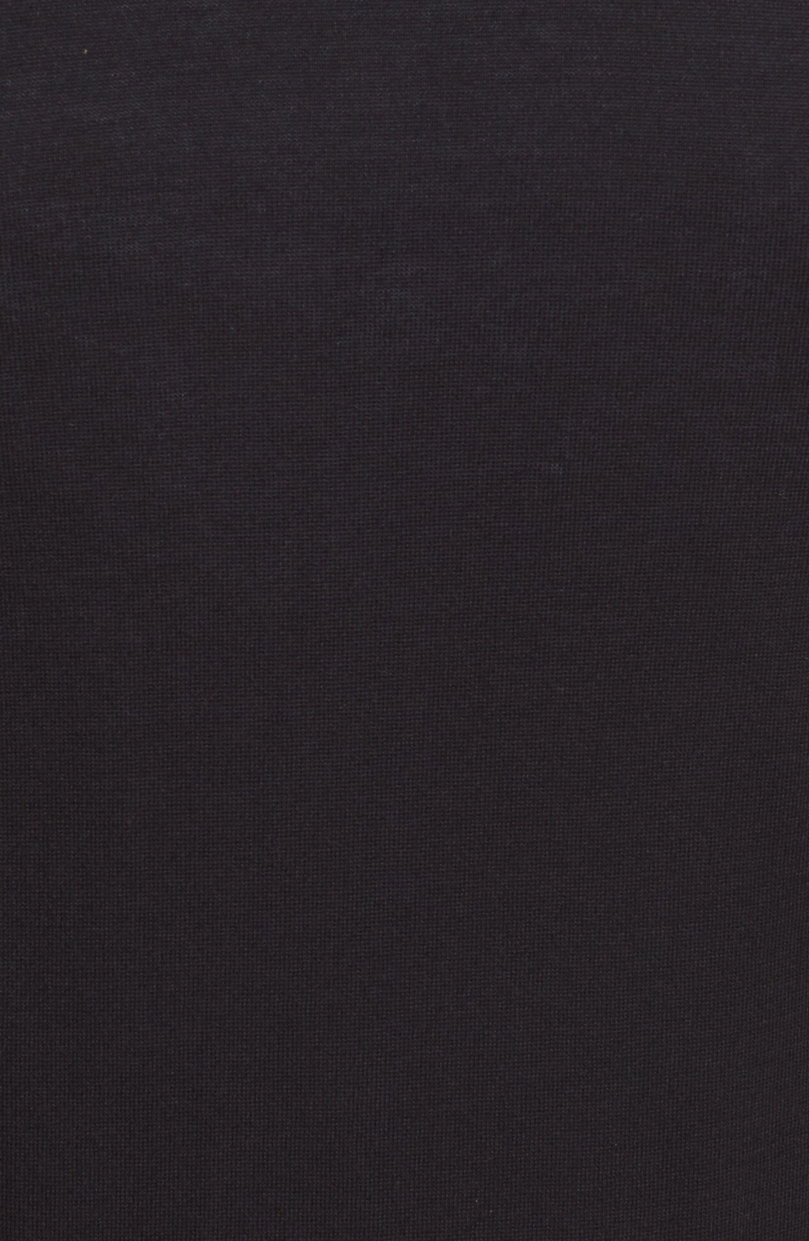 Comme des Garçons PLAY Heart Logo Cardigan,                             Alternate thumbnail 5, color,                             Black
