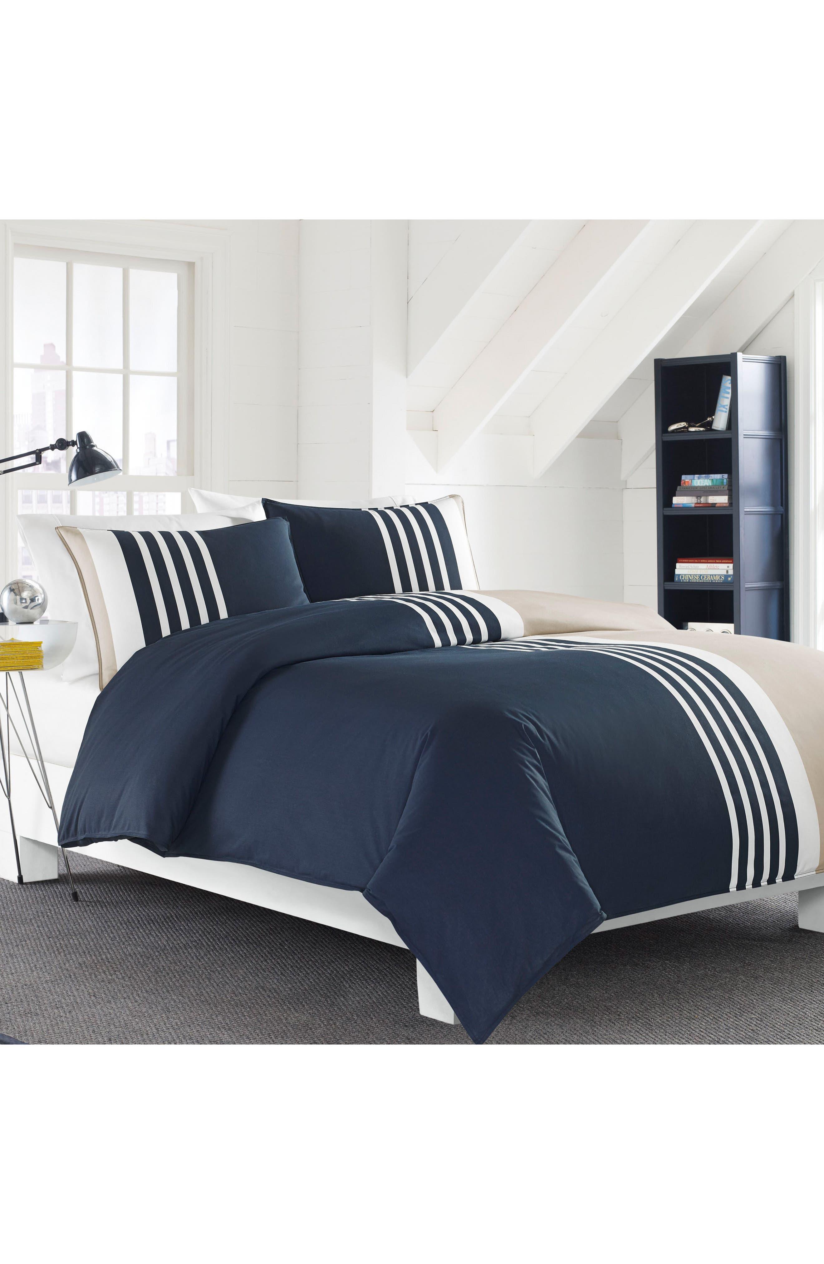 Aport Comforter & Sham Set,                         Main,                         color, Navy