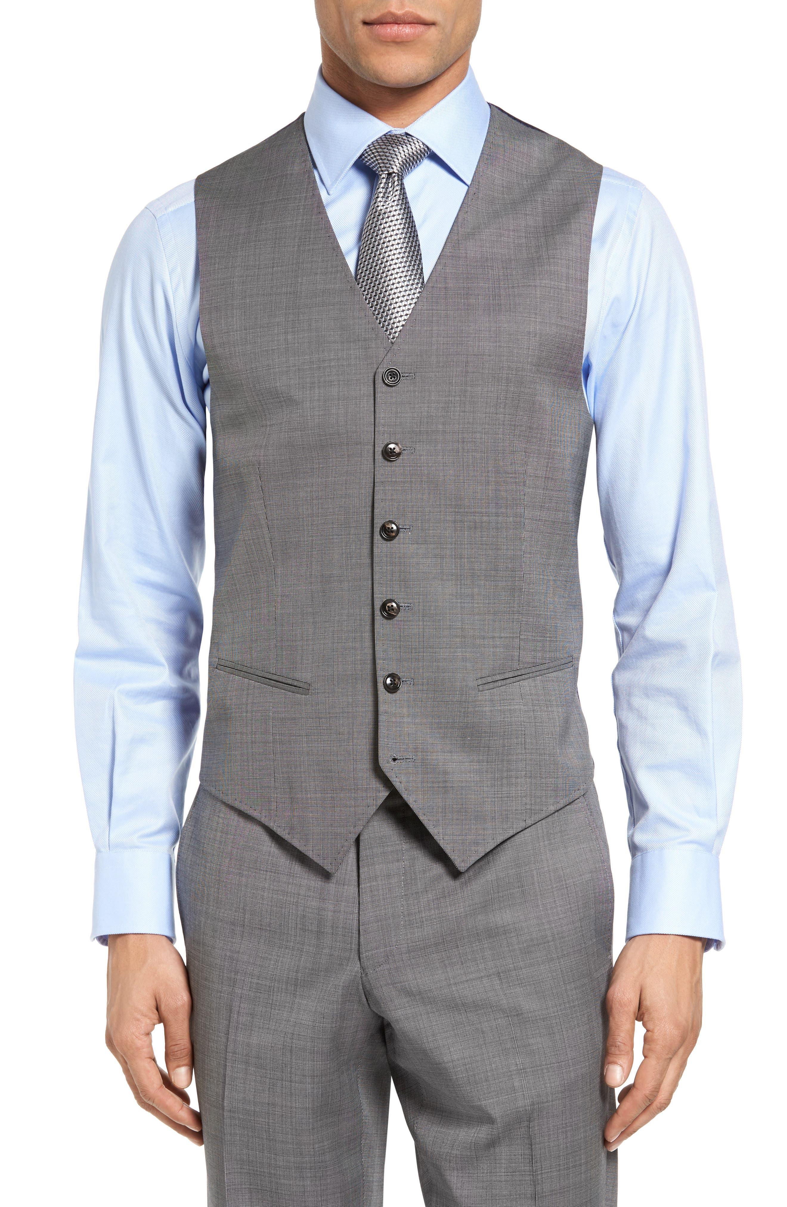 Main Image - Ted Baker London Jones Trim Fit Wool Vest