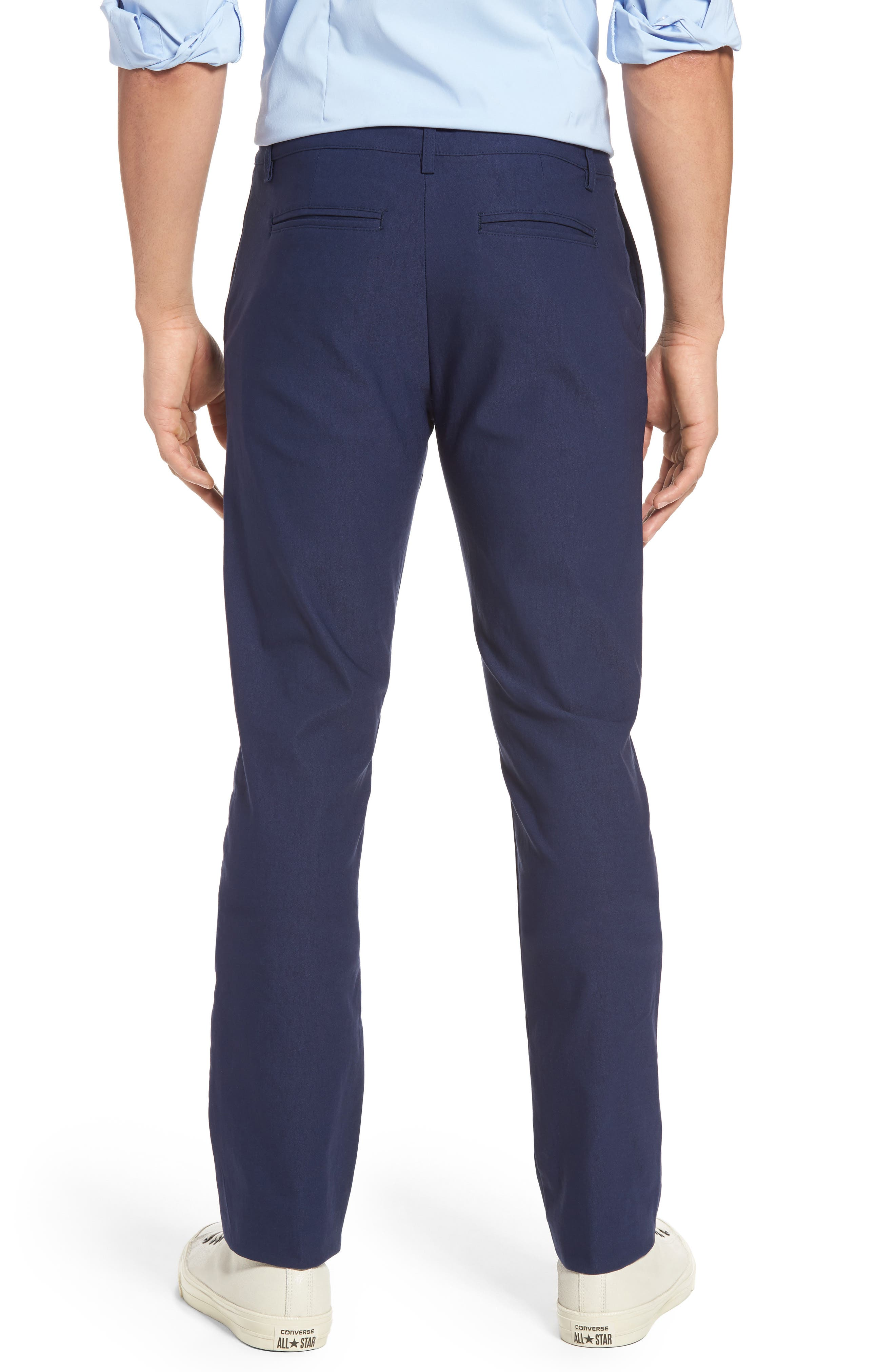 President Trim Fit Performance Chinos,                             Alternate thumbnail 2, color,                             Navy