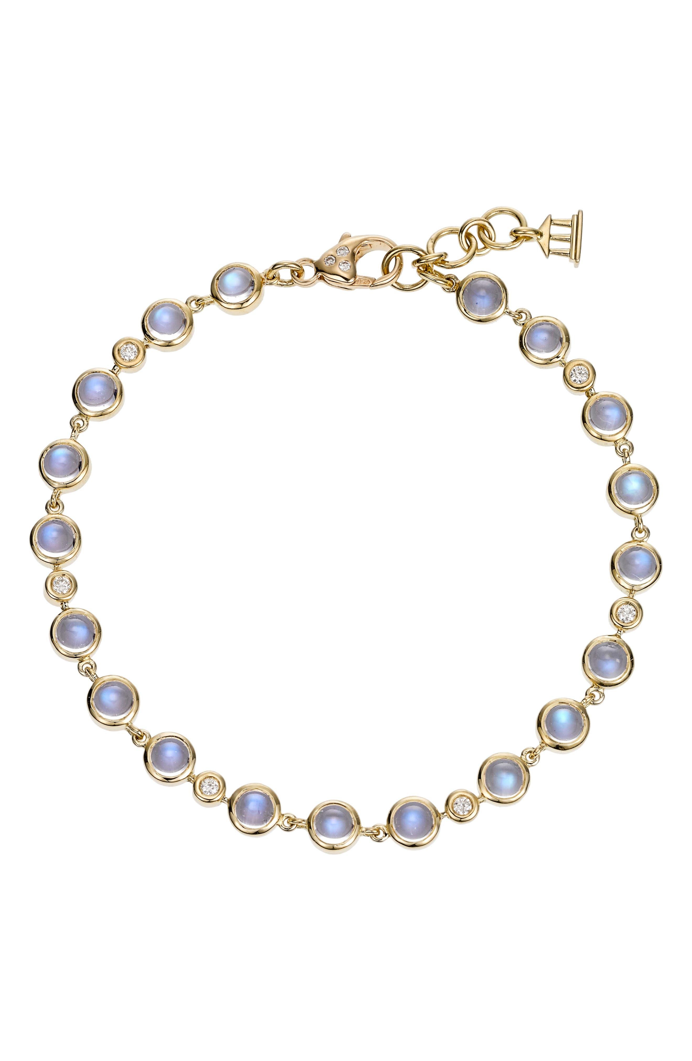 TEMPLE ST CLAIR Temple St. Clair Diamond & Moonstone Bracelet